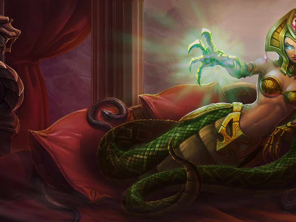 Tank Girl Wallpaper Android League Of Legends Cassiopeia Classic Skin Queen Of Snakes