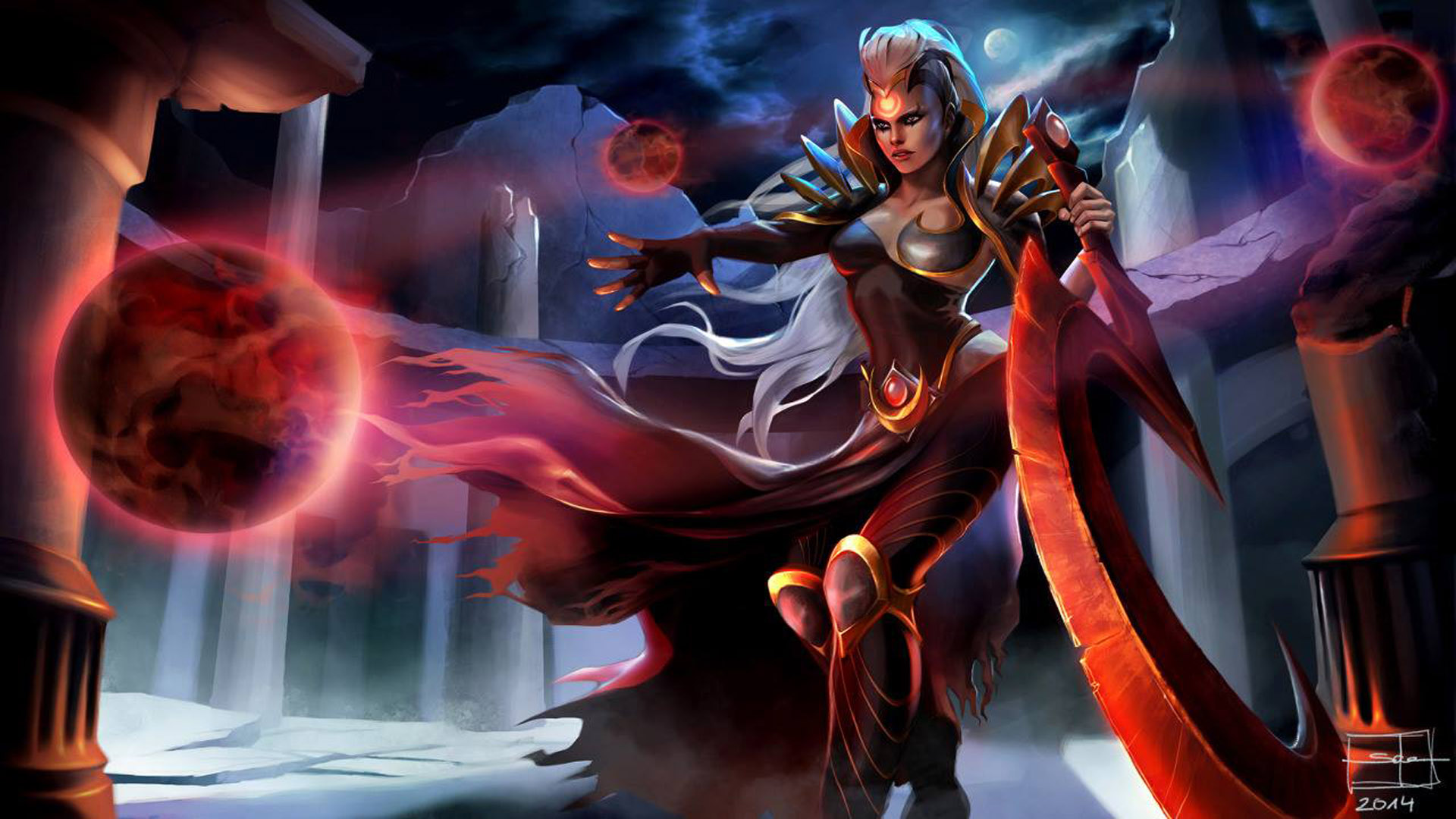 League Of Legends Iphone X Wallpaper Video Game League Of Legends Characters Blood Moon Diana