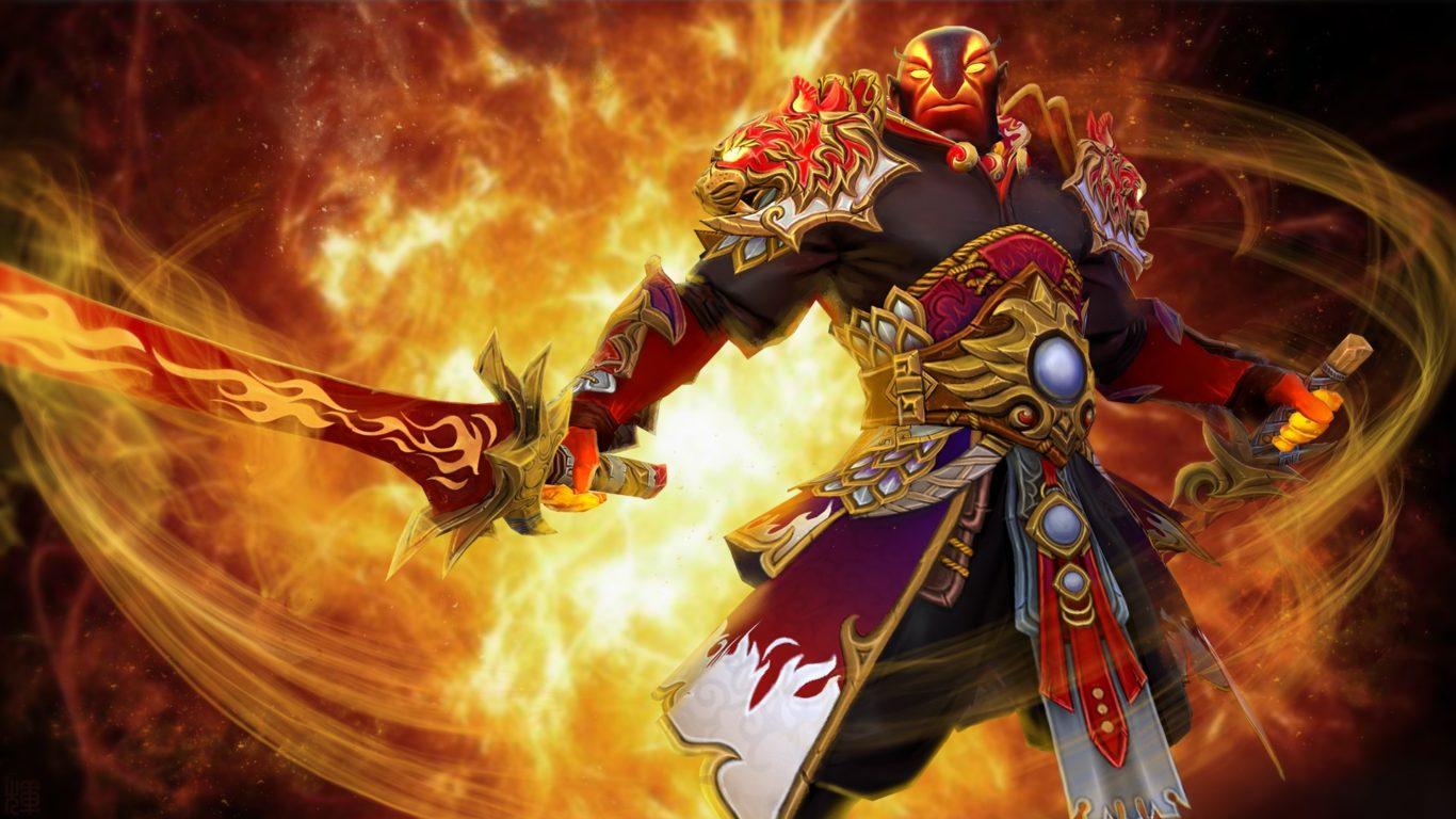 Free Download Wallpaper Naruto Shippuden 3d Dota 2 Ember Spirit Fighter Sword Fire Jewelry Game Fan