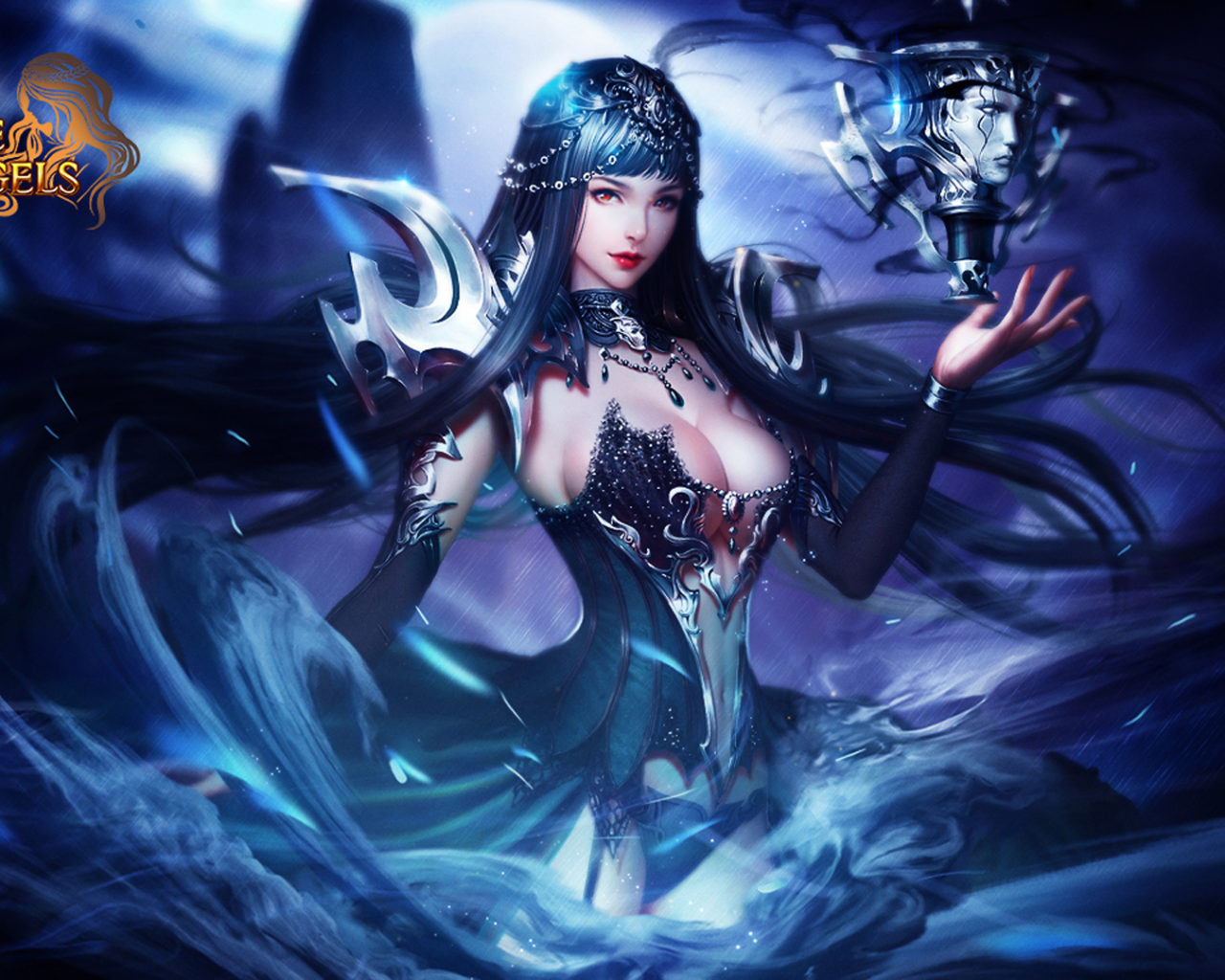 3d Angel Wallpapers Free League Of Angels Popular Game Angel Of The Night Nyx Hero