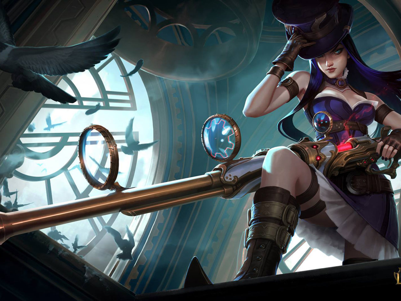 Dragon Skin Girl Wallpaper League Of Legends Caitlyn The Sheriff Of Piltover Video