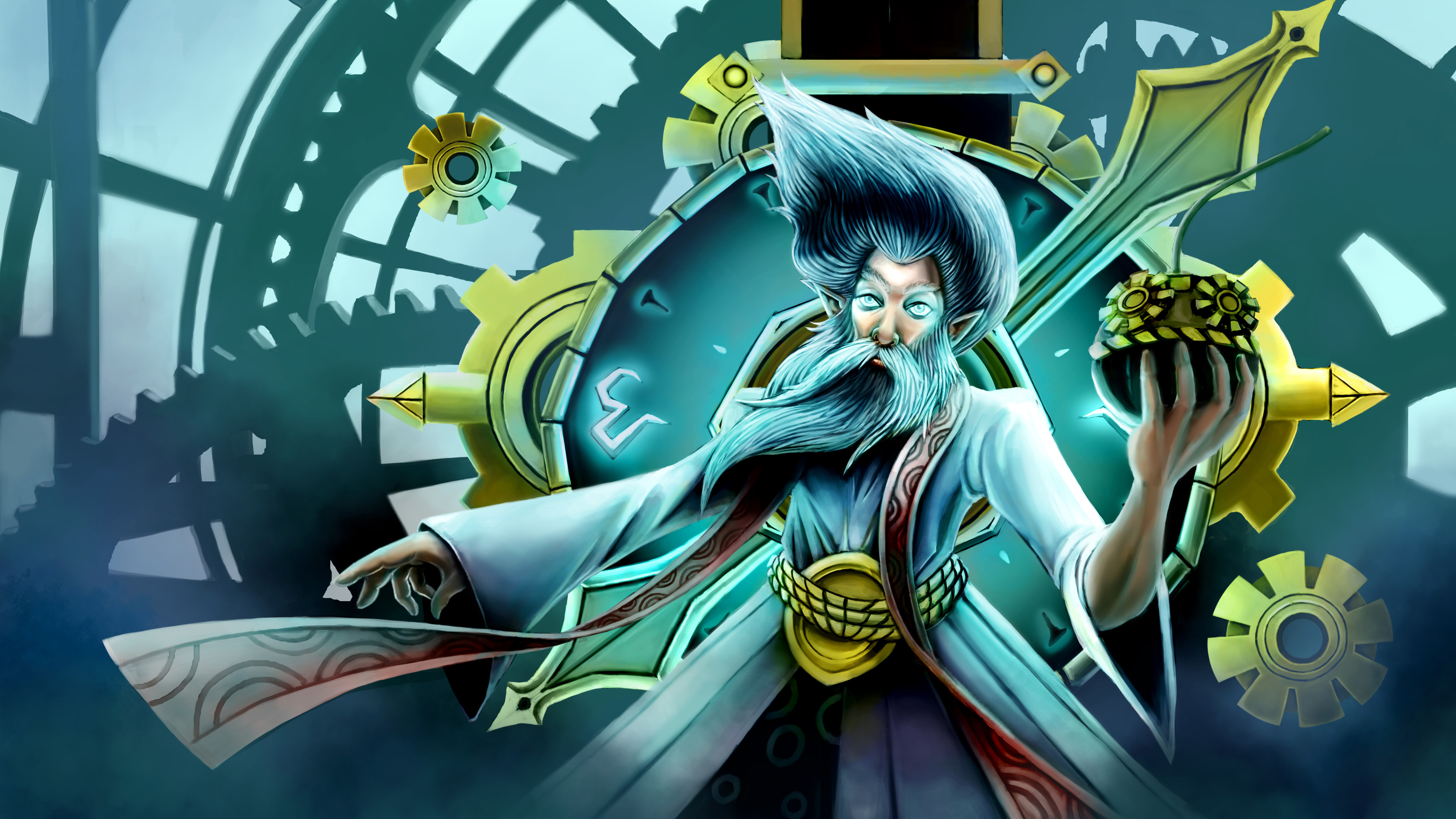 Tattoo Anime Girl Wallpaper Video Game League Of Legends Zilean The Chronokeeper Mage