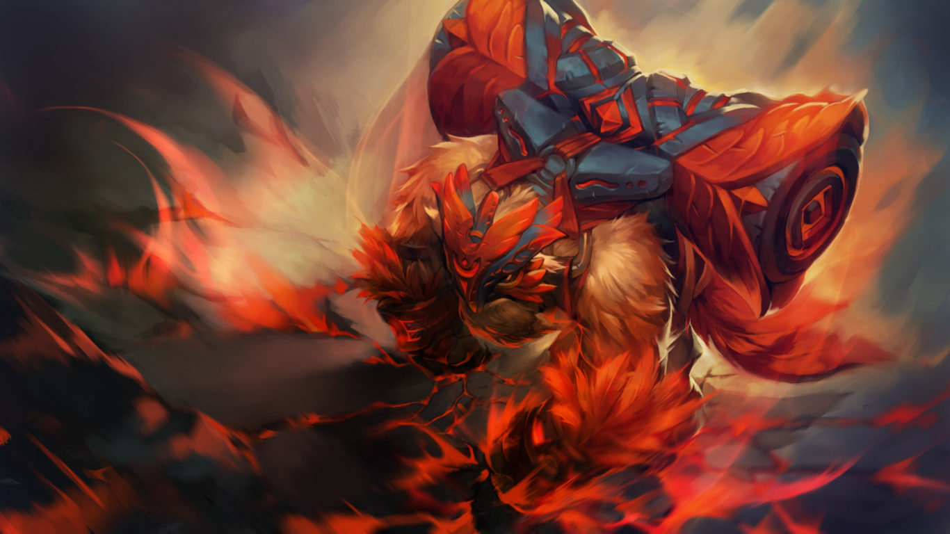 Fire And Water Hd Wallpapers Dota 2 Earthshaker Everlasting Strength Hero Loading