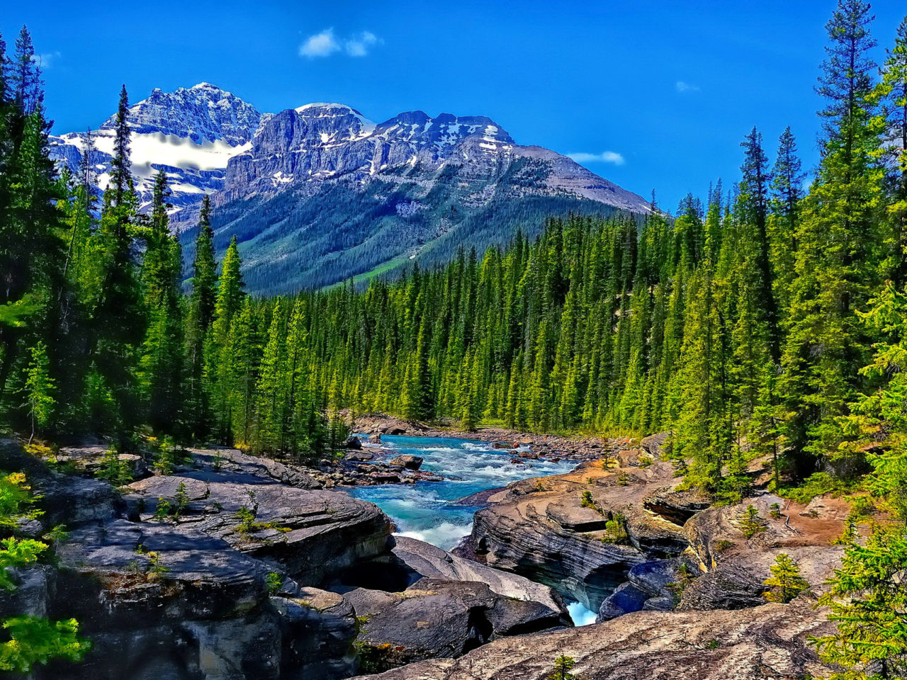 Purple Wallpaper For Iphone 5 Alberta Canada Banff National Park Mistaya River And