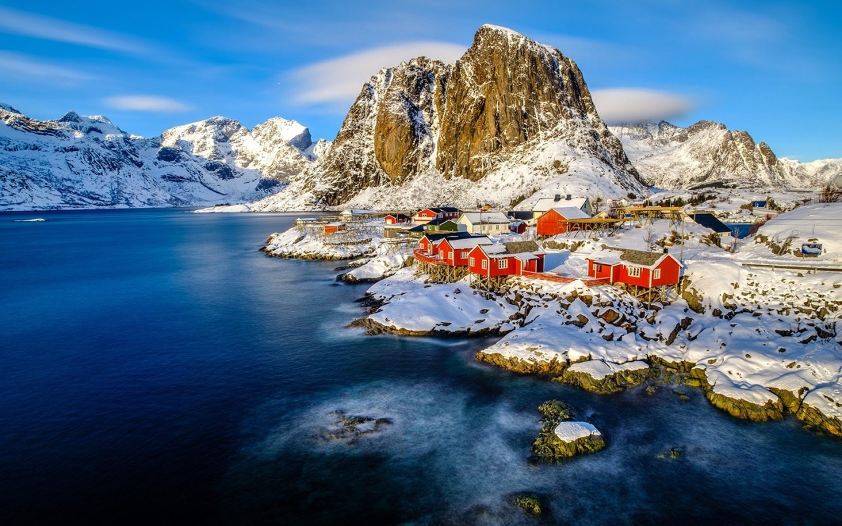 Winter Wallpaper For Iphone 4 Winter Landscape Norway Lofoten Islands Under Snow Cover