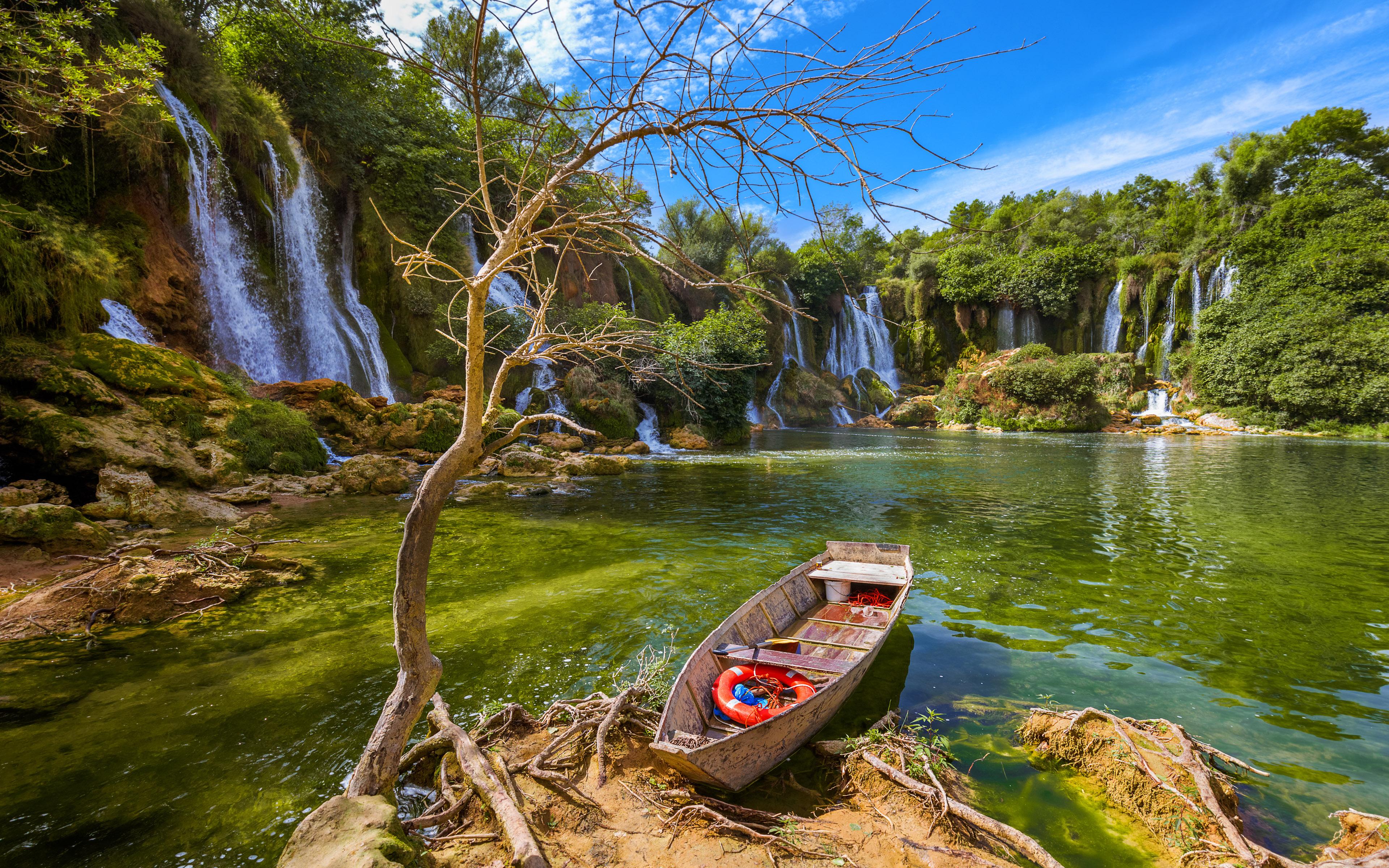 Niagara Water Falls Desktop Wallpaper Waterfall Kravice In Bosnia And Herzegovina Beautiful