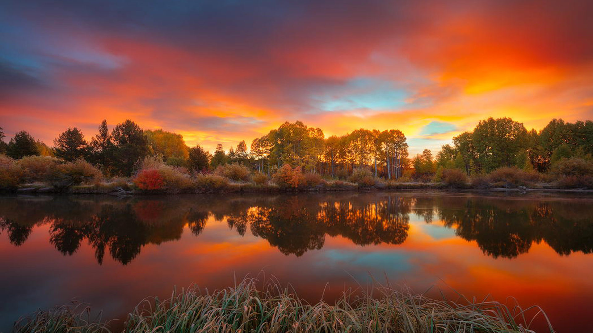 Android Wallpapers Fall Autumn Sky Sunrise On The Deschutes River The Main