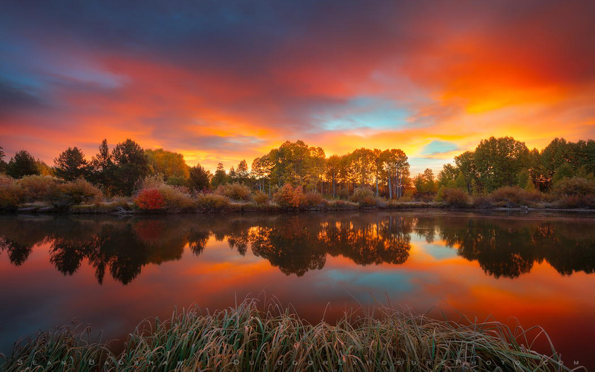 Hd Fall Wallpap Autumn Sky Sunrise On The Deschutes River The Main
