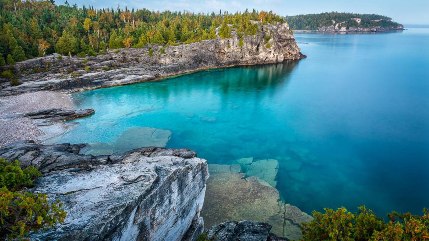 Ocean Waves Iphone Wallpaper Indian Head Cove Bruce Peninsula National Park Ontario
