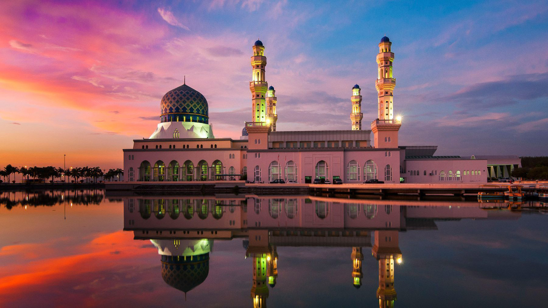New 3d Hd Wallpapers For Pc Kota Kinabalu City Mosque Is The Second Main Mosque In