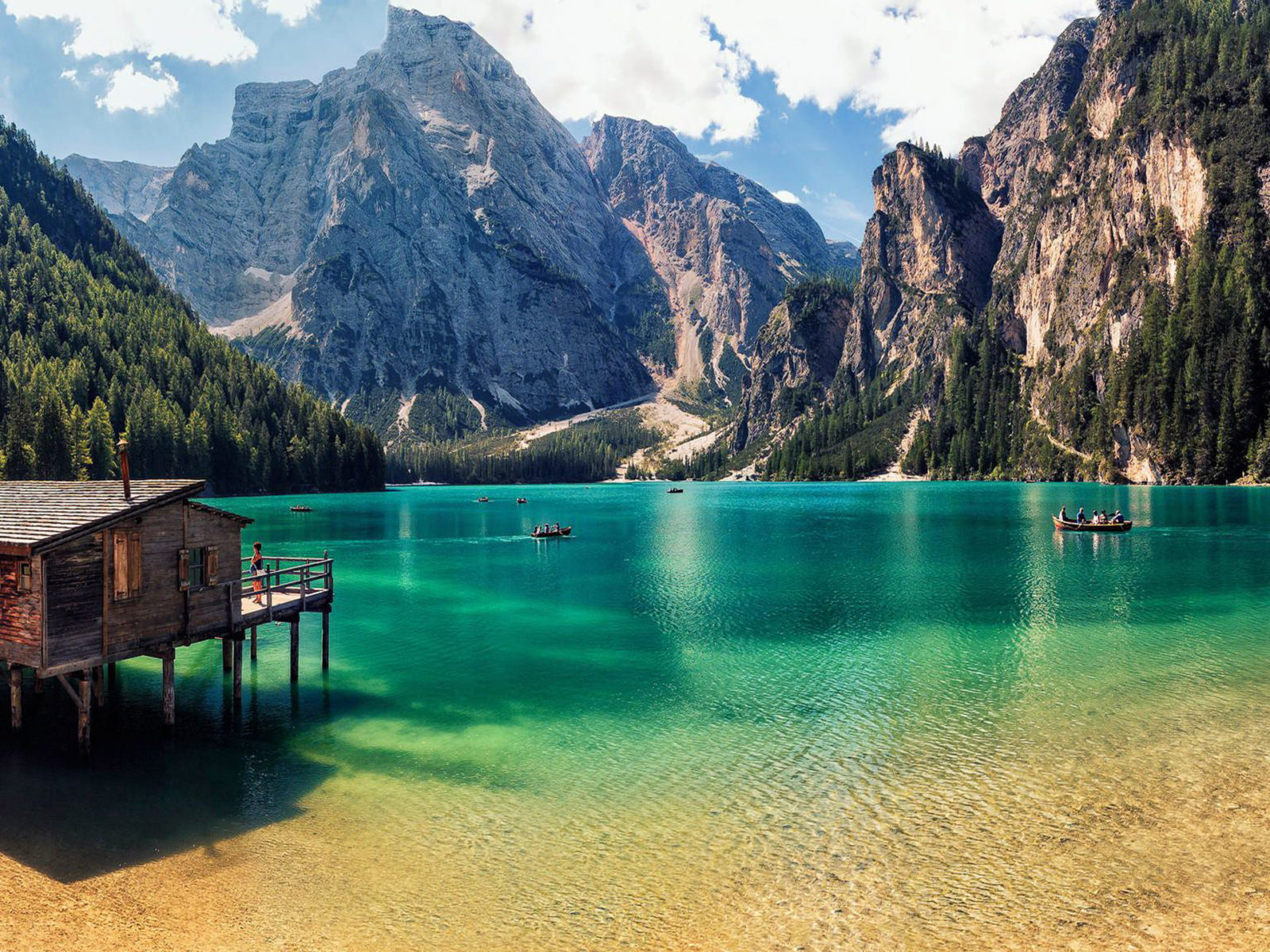 Cool Wallpapers Water Fall Pragser Wildsee Italy Blue Mountain Lake Clear Water