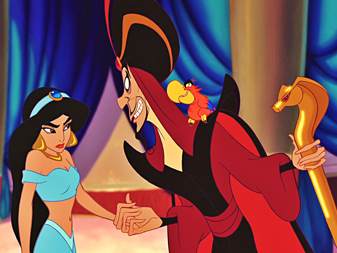 Gravity Falls Wallpaper Iphone 4 Jafar Wizard And Jasmine Princess In Aladdin Cartoon Walt