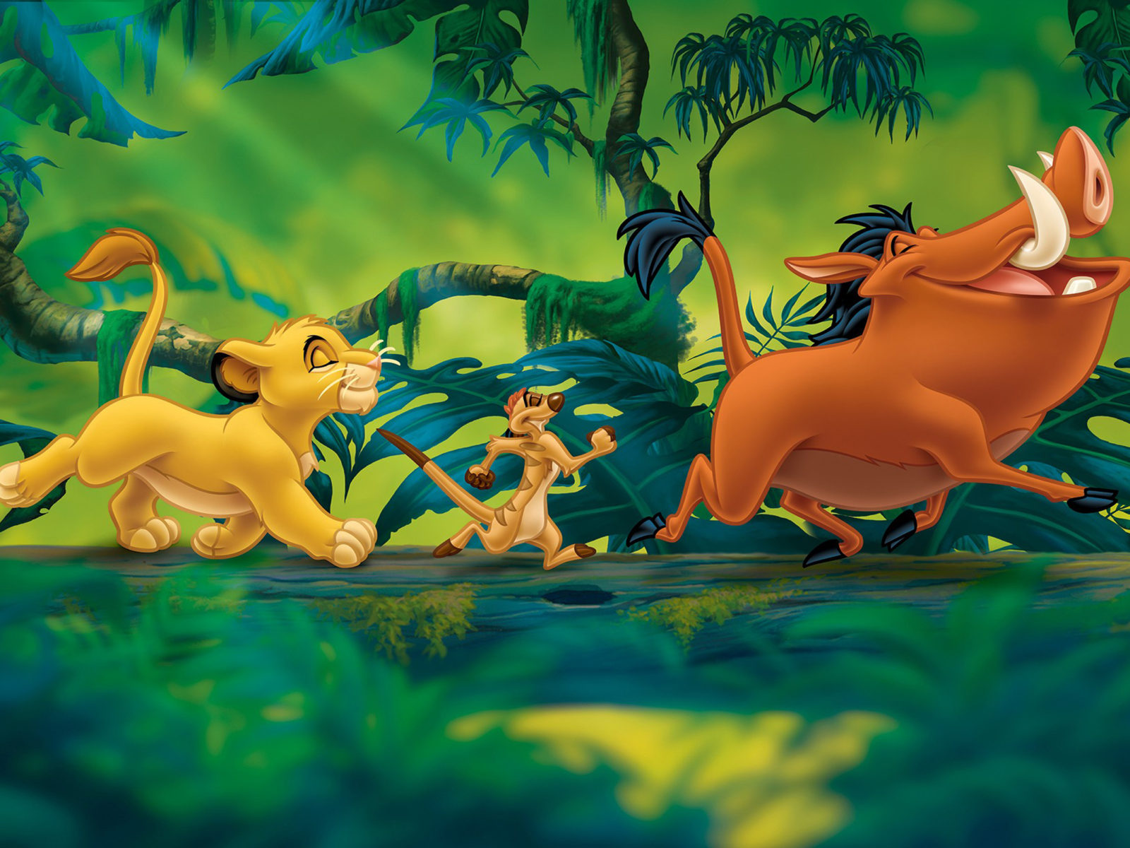 Hd Wallpaper Cars Disney The Lion King Simba Timon And Pumbaa Cartoons Disney