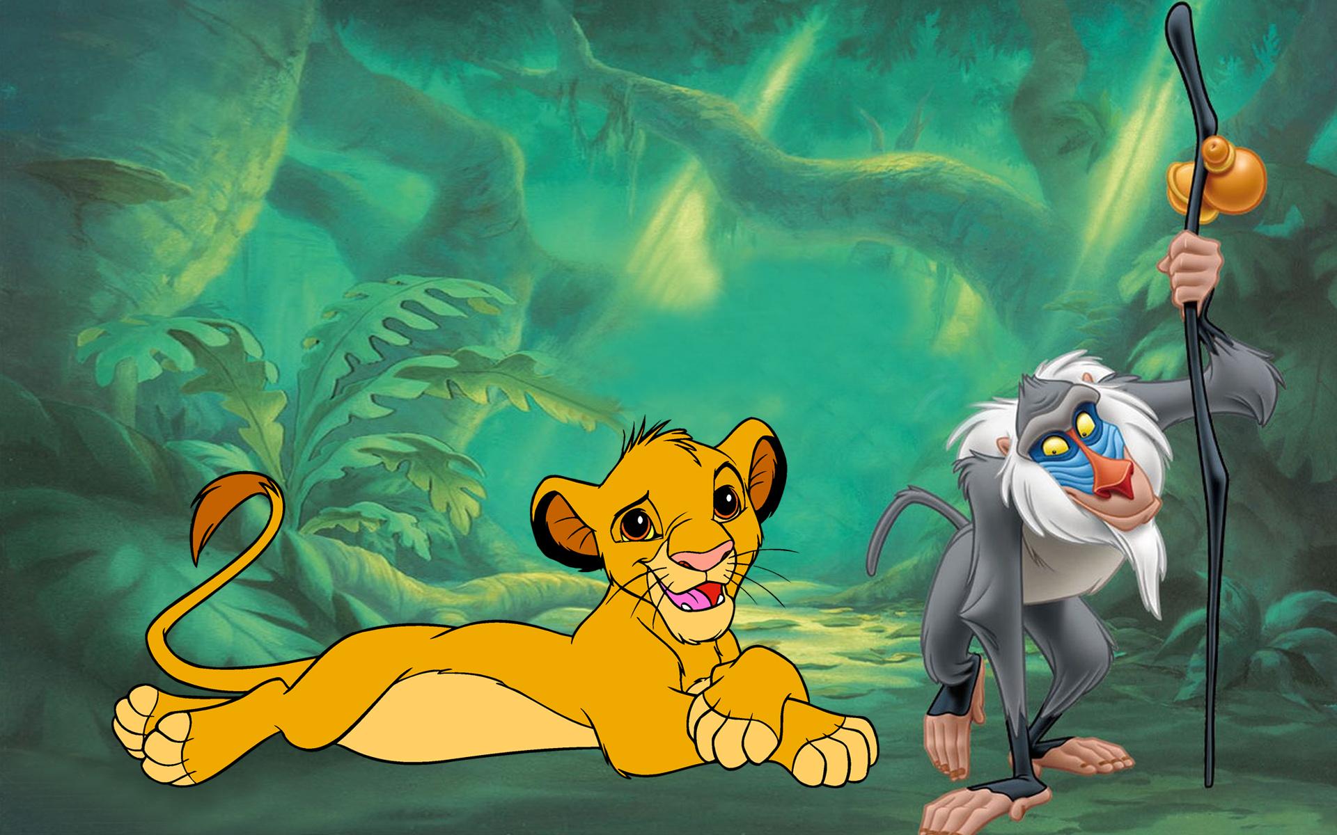 Hd Disney Cartoon Wallpapers The Lion King Simba And Rafiki Photo Hd Wallpaper