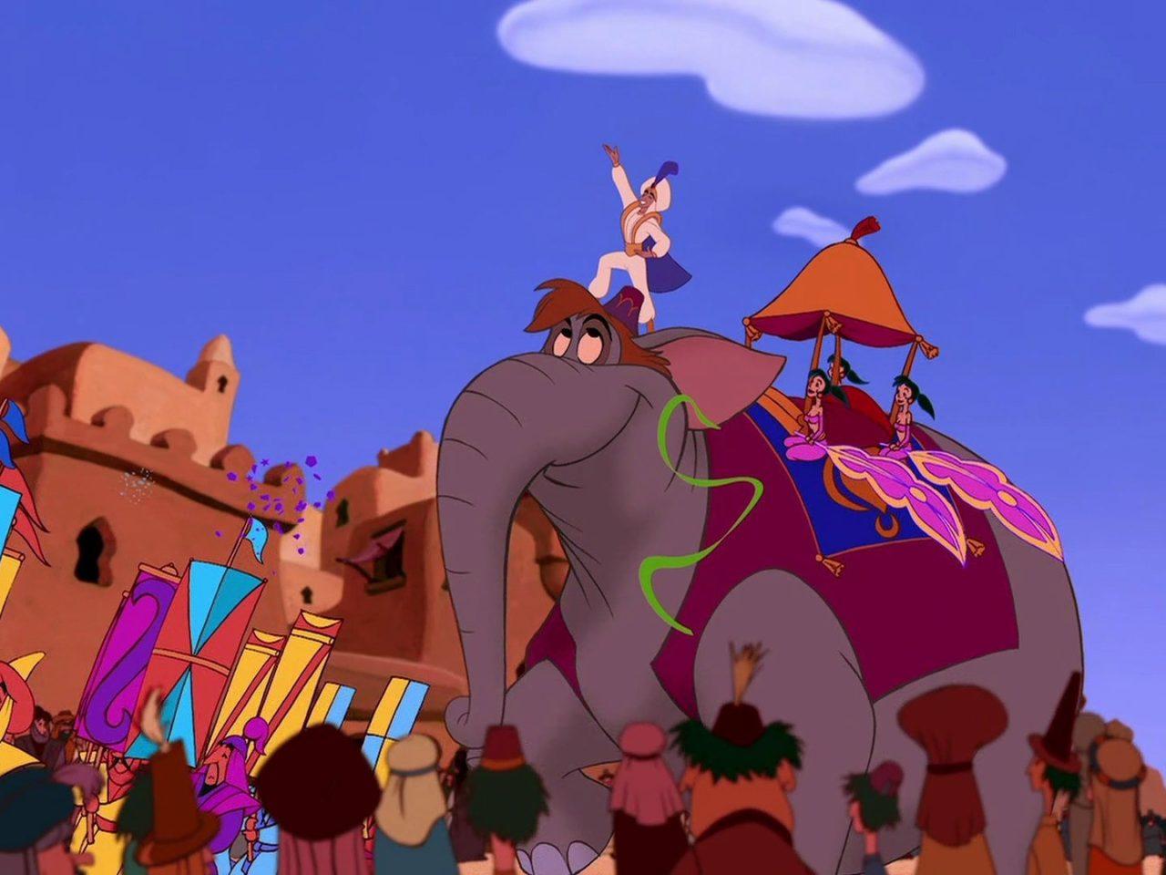 Cars The Movie Christmas Wallpaper Aladdin Prince Parade Riding An Elephant Disney Movie