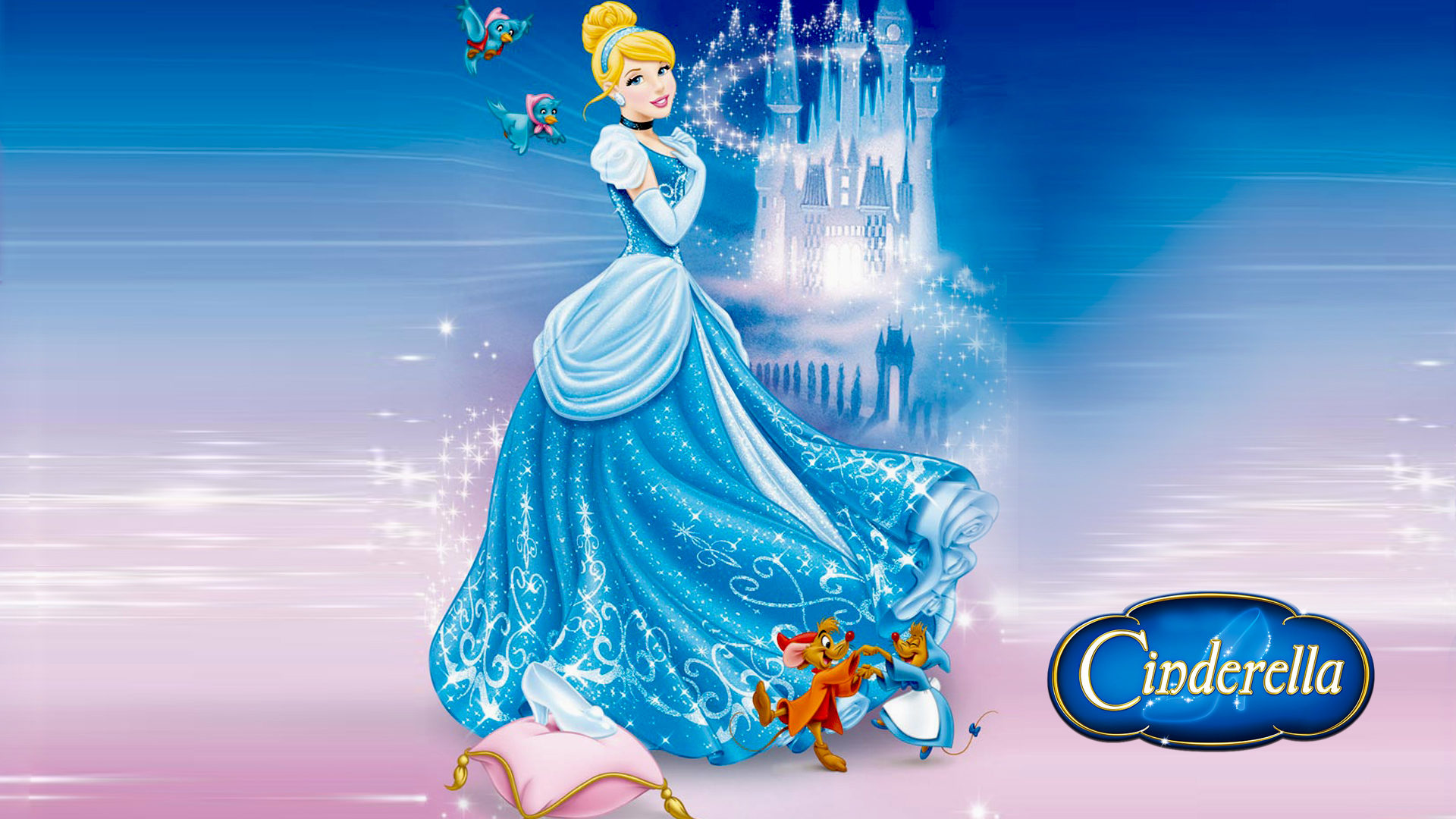 Cars The Movie Christmas Wallpaper Castle Of Cinderella And Friends Jaq And Perla Cartoons