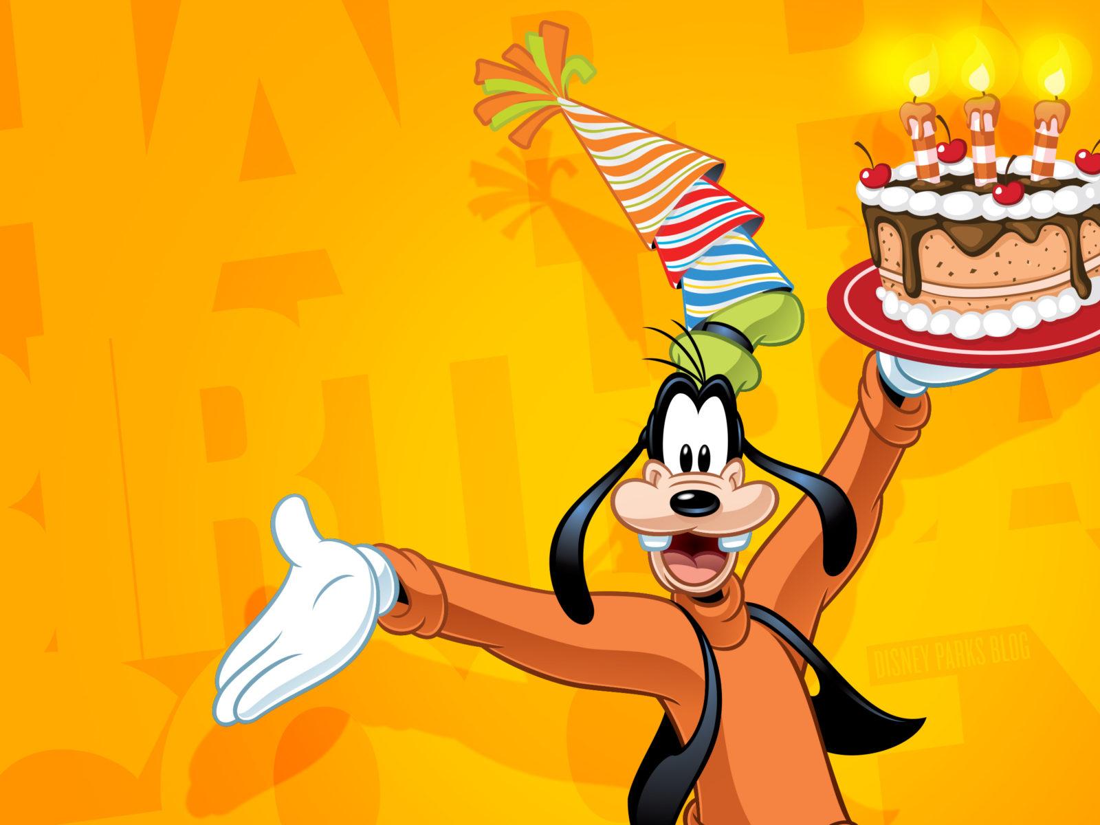 Aladdin Wallpaper Hd Goofy Celebrate Happy Birthday Disney Wallpaper 2880x1800