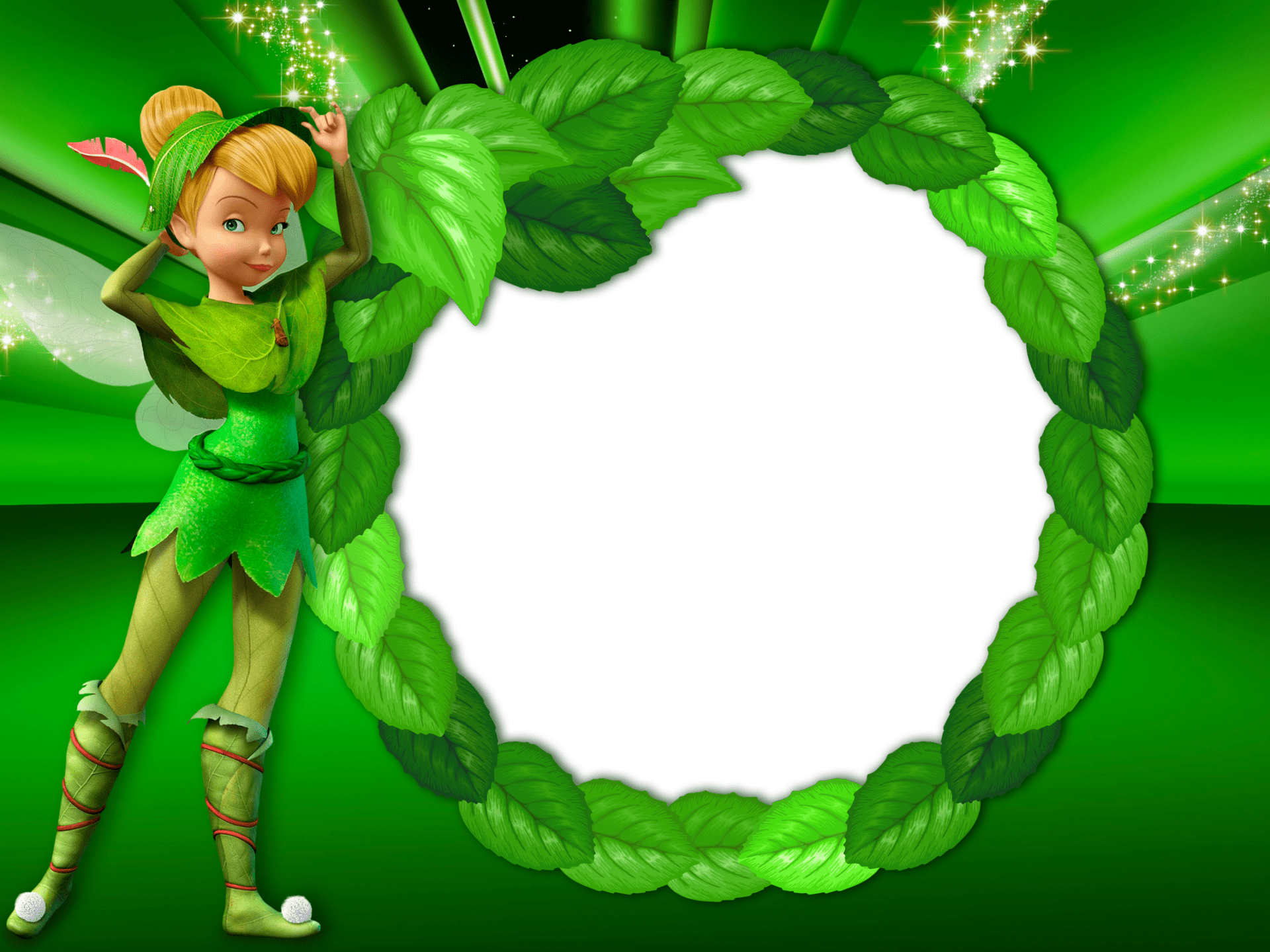 How To Use A Gif As A Wallpaper Iphone Green Transparent Kids Frame With Tinkerbell Fairy