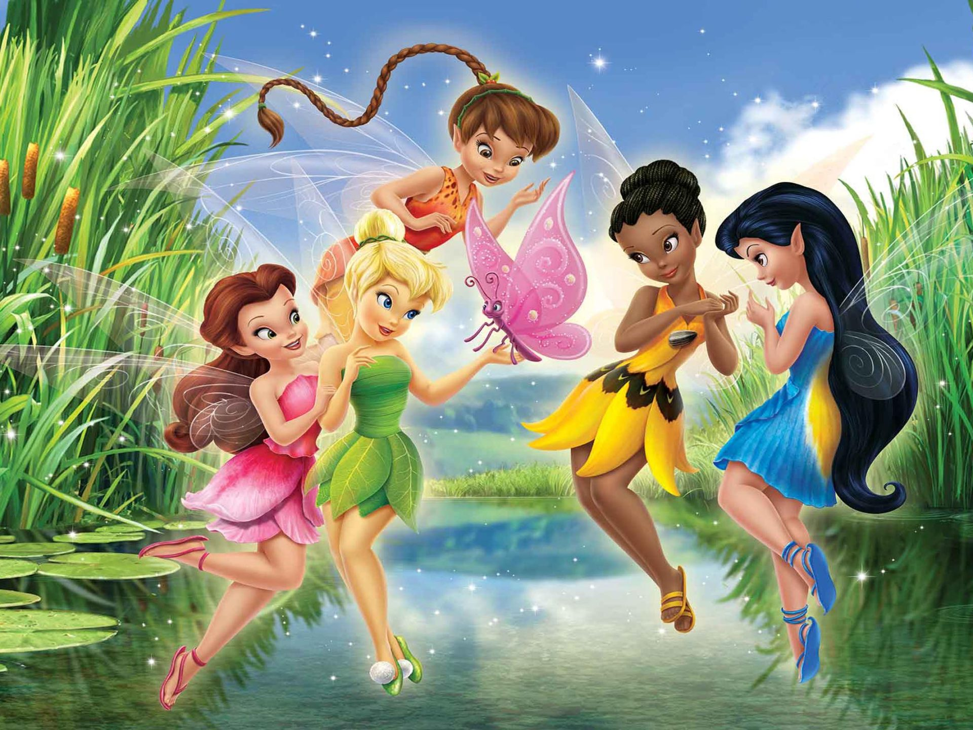 Disney Cars Wallpapers Free Tinker Bell Disney Fairies Lake Green Reeds Photo Hd