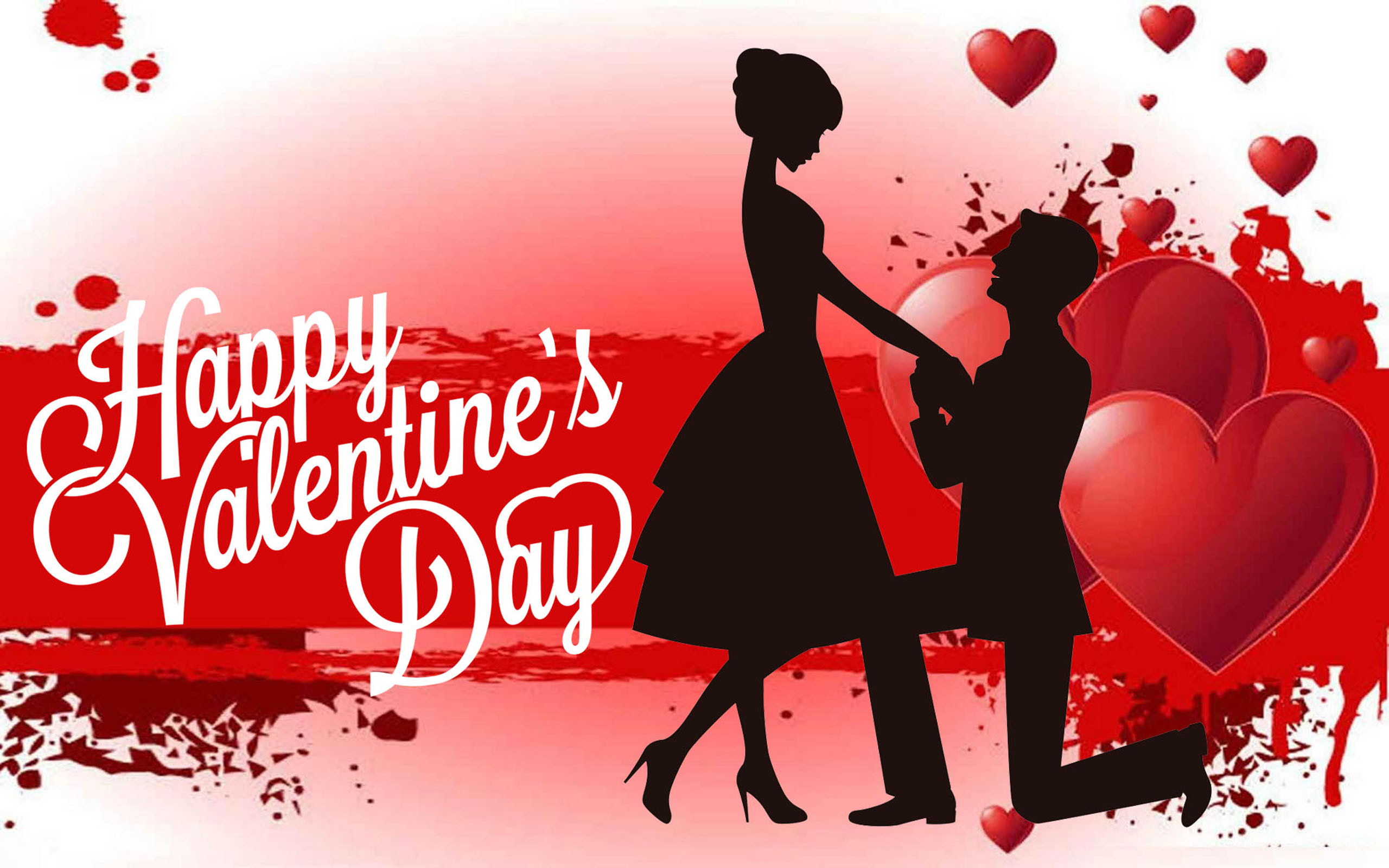 Girl Boy Love Birds Wallpaper Download Happy Valentines Day Red Heart Love Couple Photos For