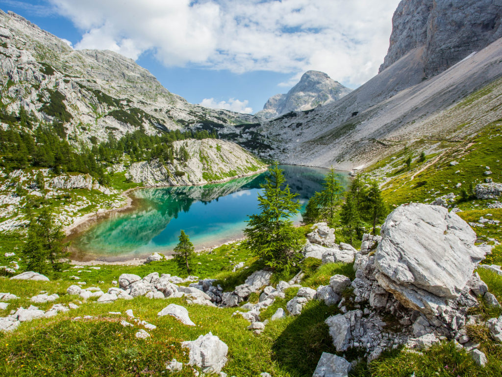 1680x1050 Fall Wallpaper Triglav National Park The Great Lake Julian Alps Slovenia