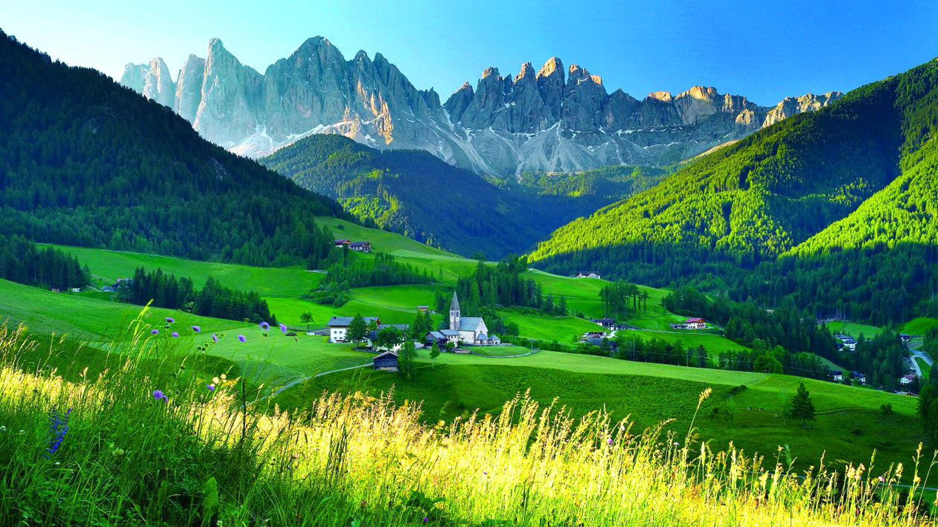 World Beautiful Cars Wallpapers Central Eastern Alps Mountain Chain Summer Village Peaks