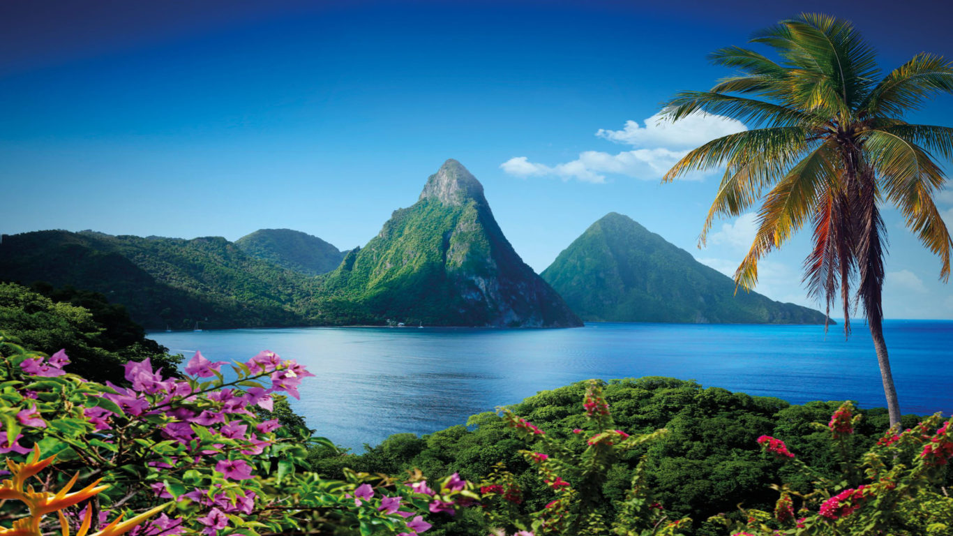 Best Pc Wallpapers Hd Cars Gros Piton Mountain In Saint Lucia Caribbean Island