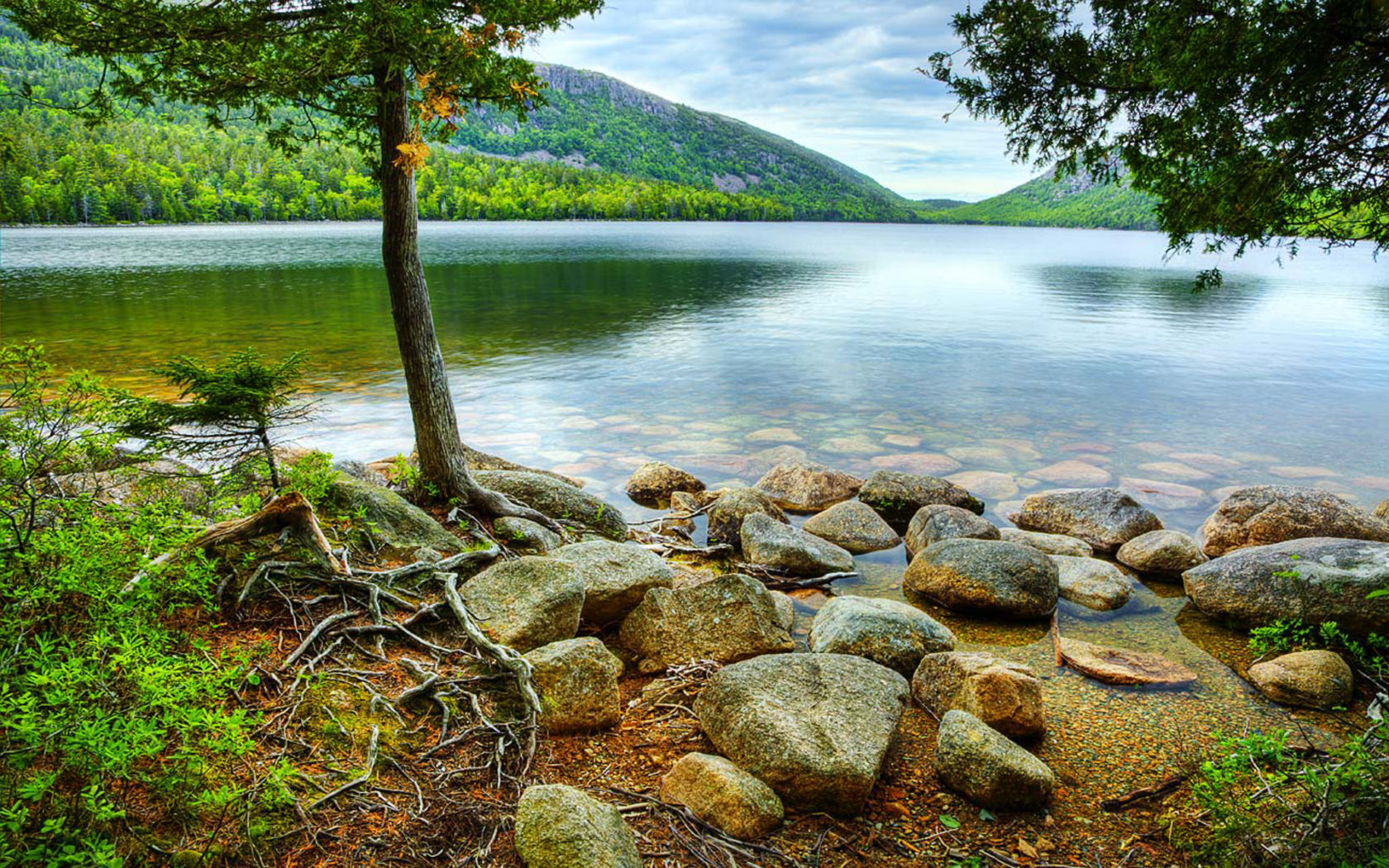 Maine Fall Wallpaper Jordan Pond View From Hiking Trail Acadia National Park