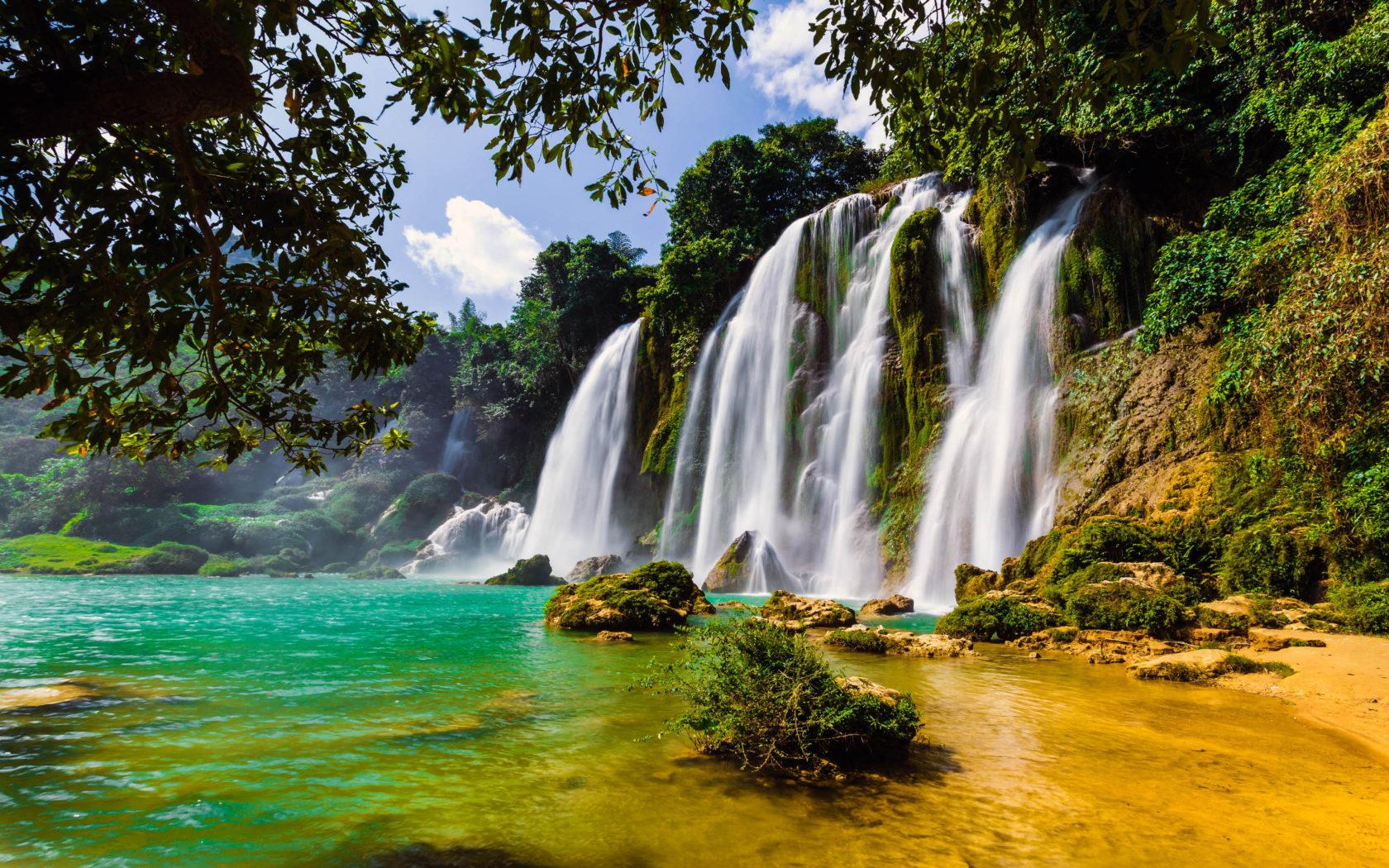 Kuang Si Falls Hd Wallpaper Ban Gioc Waterfall In China And Vietnam 4k Wallpapers Hd