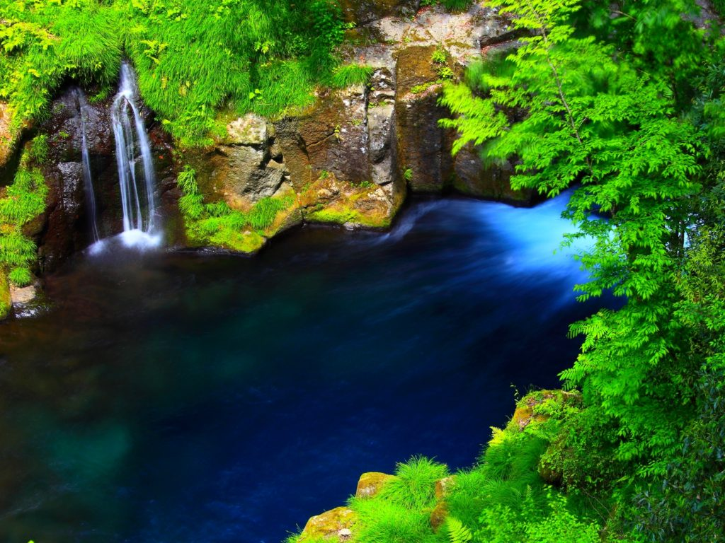 Fall Wallpaper For Android Tablet River Forest Waterfall Lake Blue Water Rocky Coast With