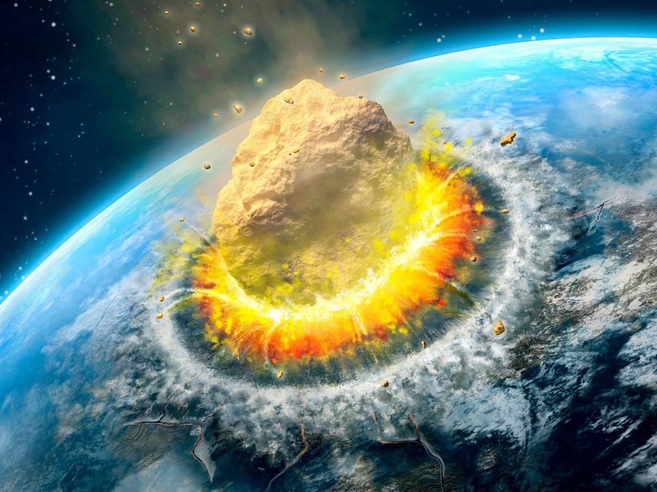 Falling Astronaut Iphone Wallpaper Asteroid Impact Falling Asteroid On Earth Ultra Hd
