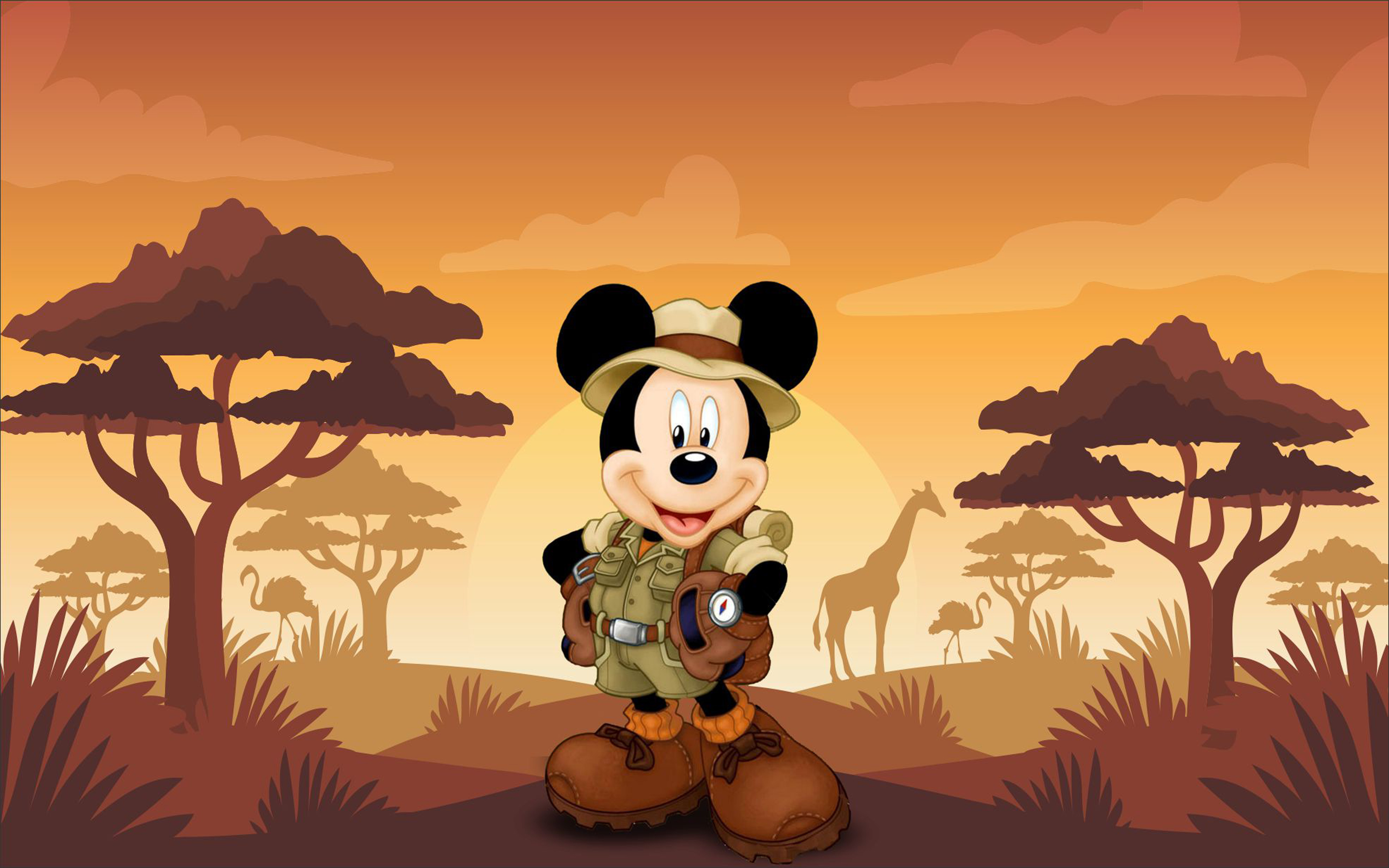 Daisy Iphone Wallpaper Mickey Mouse Cartoon Safari Sunset Hd Wallpaper 3840x2400