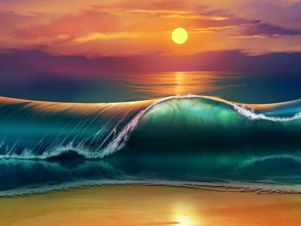 Hd Cars Wallpaper Iphone Sunset Sea Waves Beach 4k Ultra Hd Wallpapers For Desktop