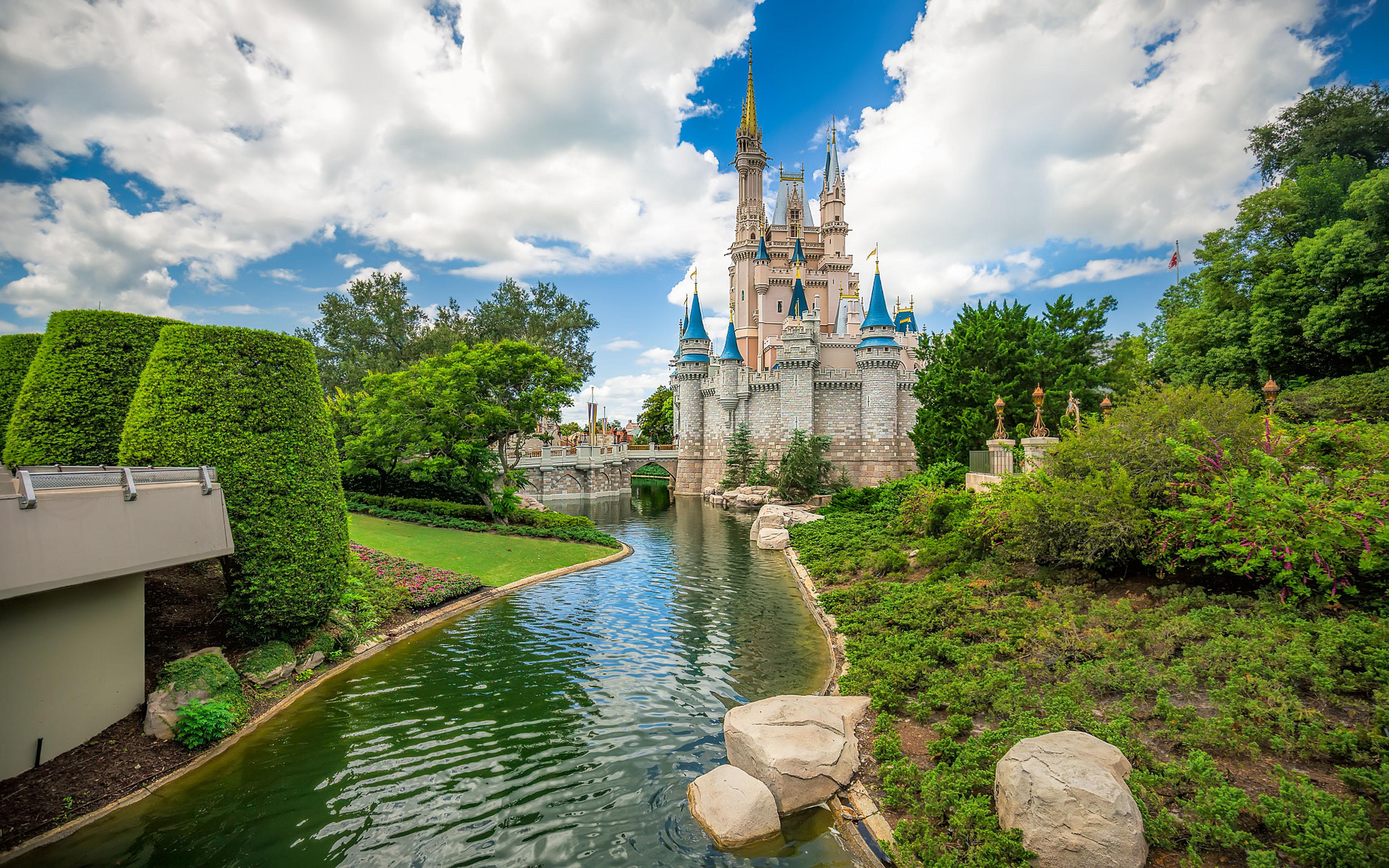 3d Art Ultra Hd Wallpapers Cinderella S Castle In Disneyworld Orlando Usa 4k Ultra Hd