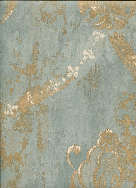 Blue Animal Print Wallpaper Grand Chateau 3 Wallpaper Ch28248 By Norwall For Galerie