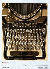 Steampunk Wall Mural Typewriter Large G45258 By Galerie