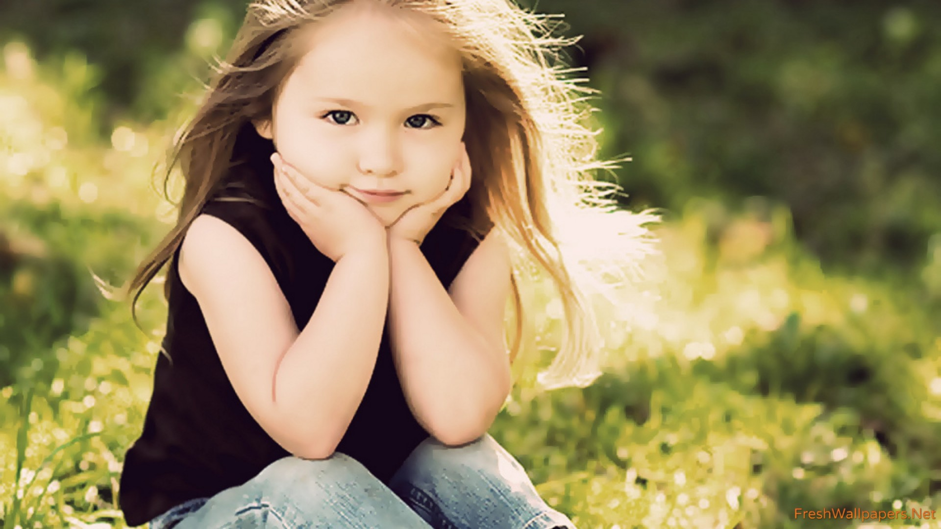 Sad Baby Girl Wallpaper With Quotes Cute Little Girl Wallpapers Freshwallpapers Hd Wallpapers