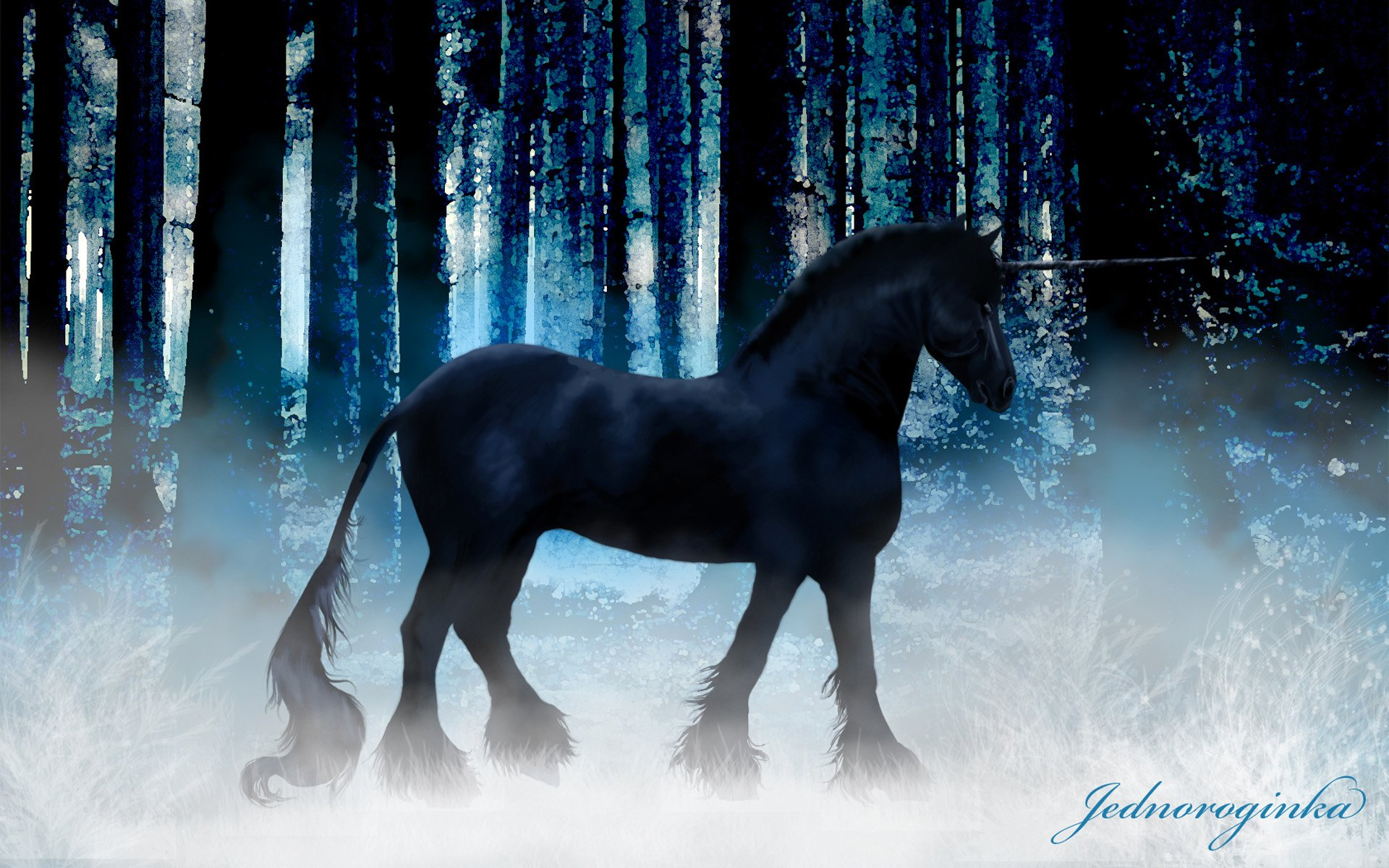 Download 3d Live Wallpaper For Windows 7 Download Black Unicorn Wallpaper Gallery