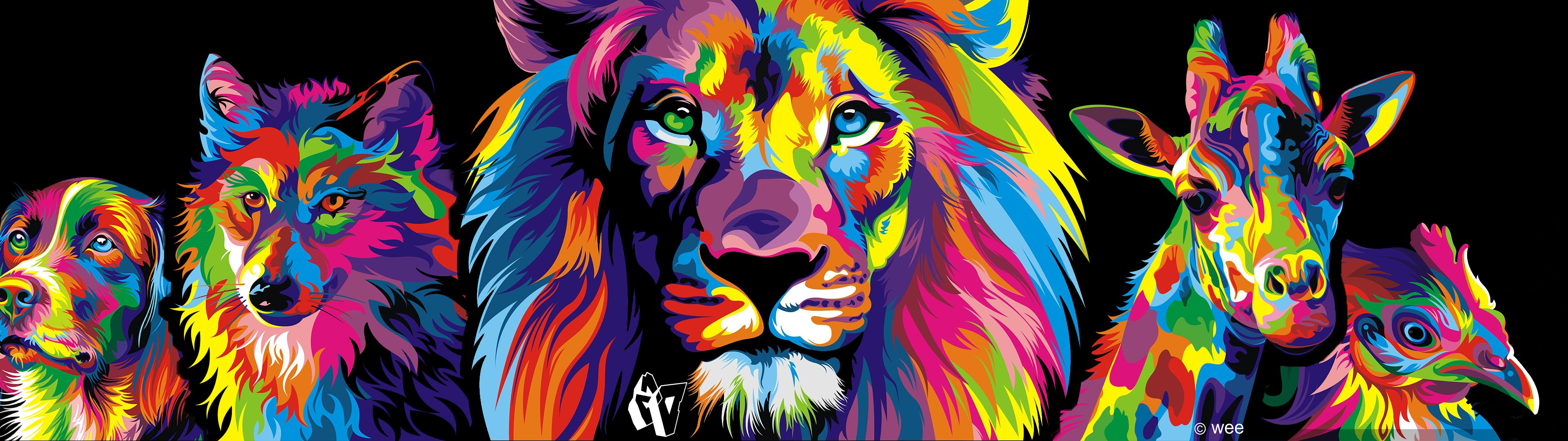 Old Iphone Wallpapers Download Colorful Lion Wallpaper Gallery