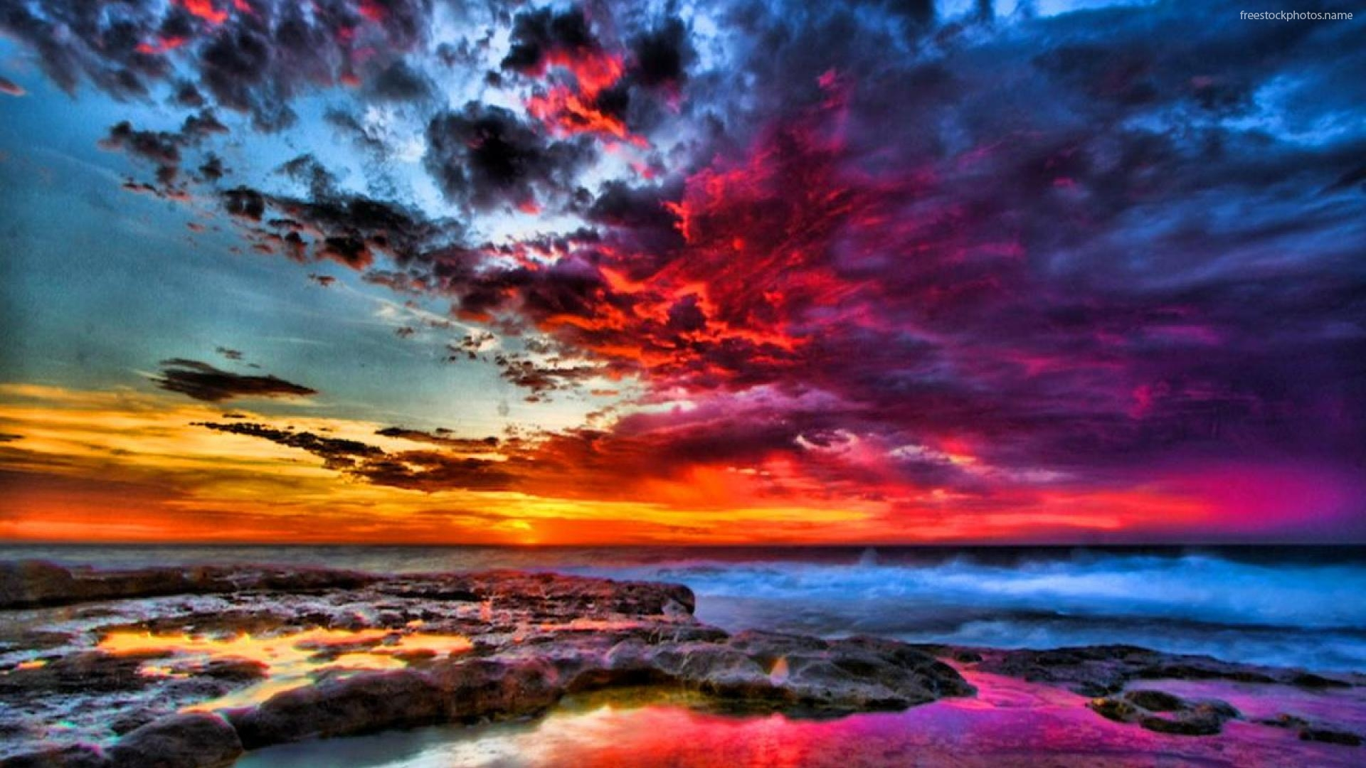 Hd Nature Phone Wallpapers Download Colorful Sunset Wallpaper Gallery