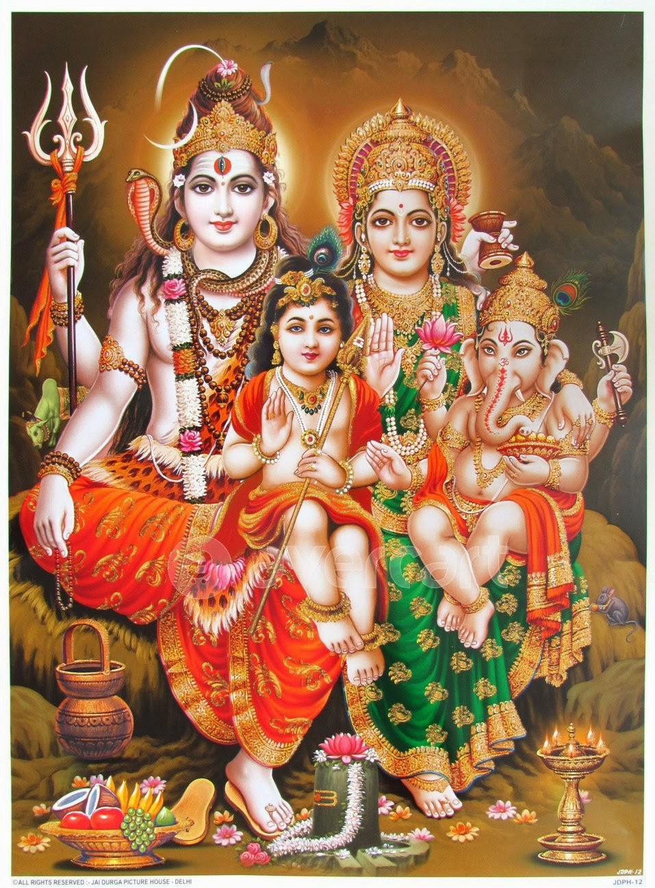 Cute Wallpapers Girls Animated Download God Shiva Family Wallpaper Gallery