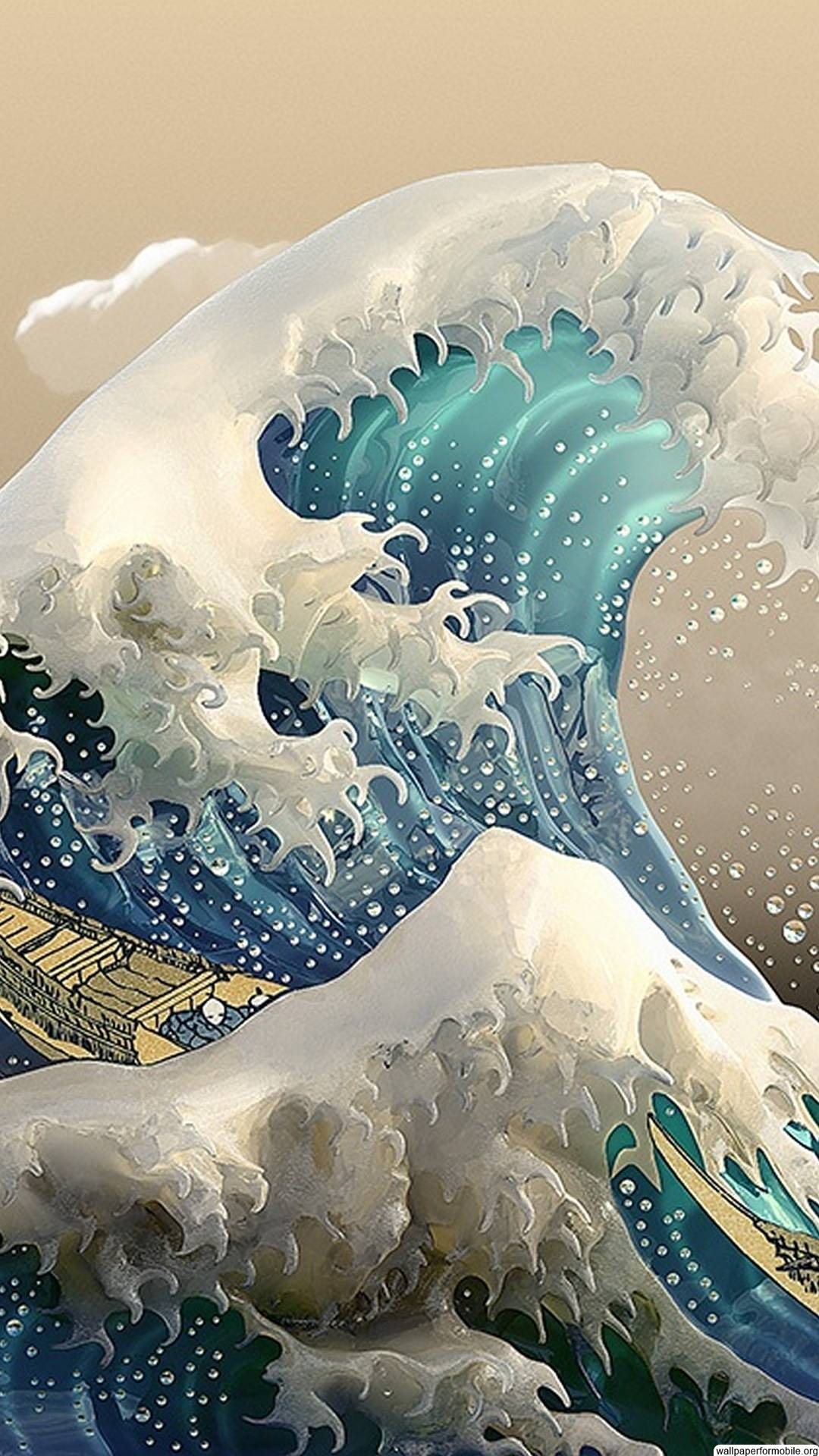 3d Wallpaper For Androids Download Great Wave Off Kanagawa Wallpaper Gallery