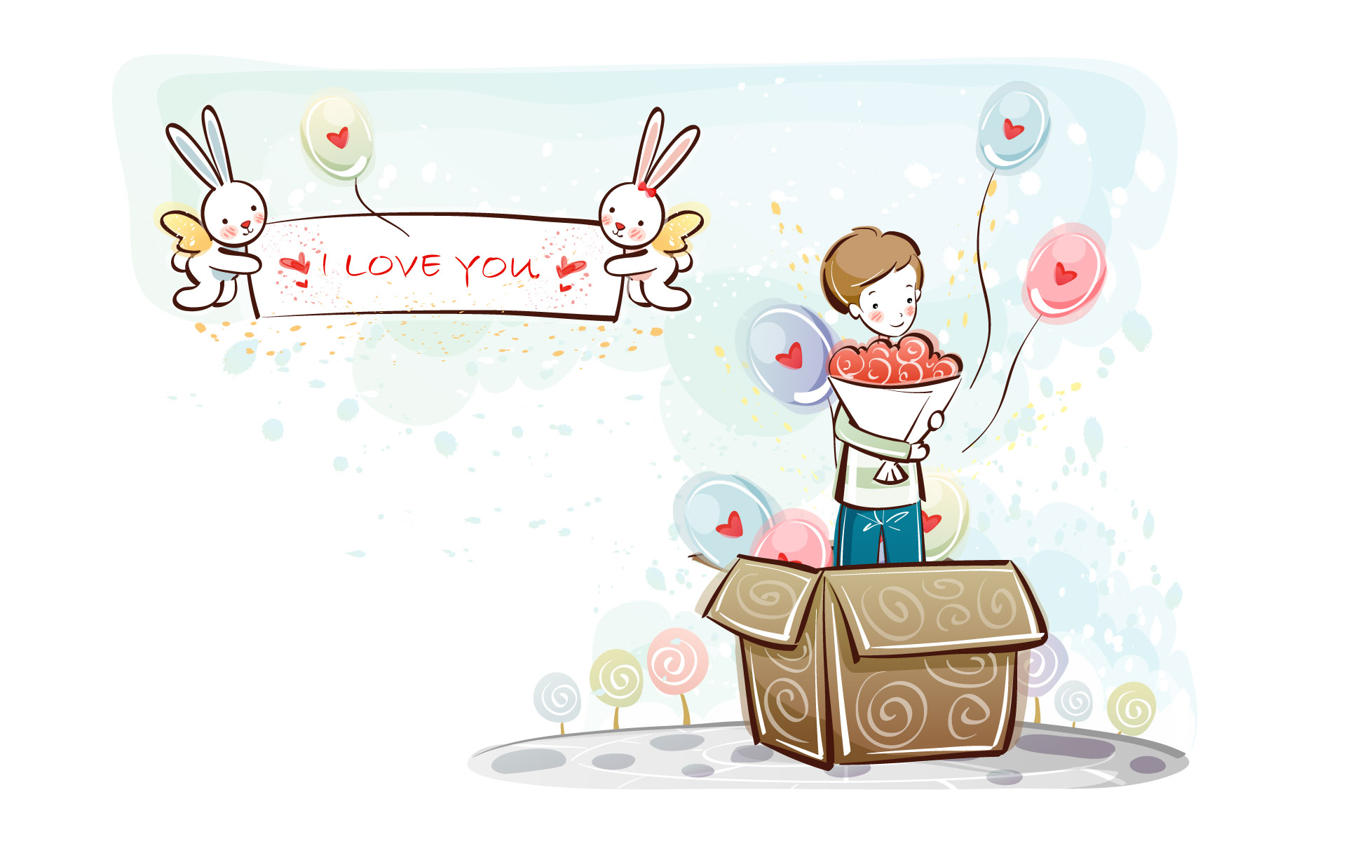 Cute Couples Wallpapers Full Hd Download Lovely Couple Cartoon Wallpaper Gallery