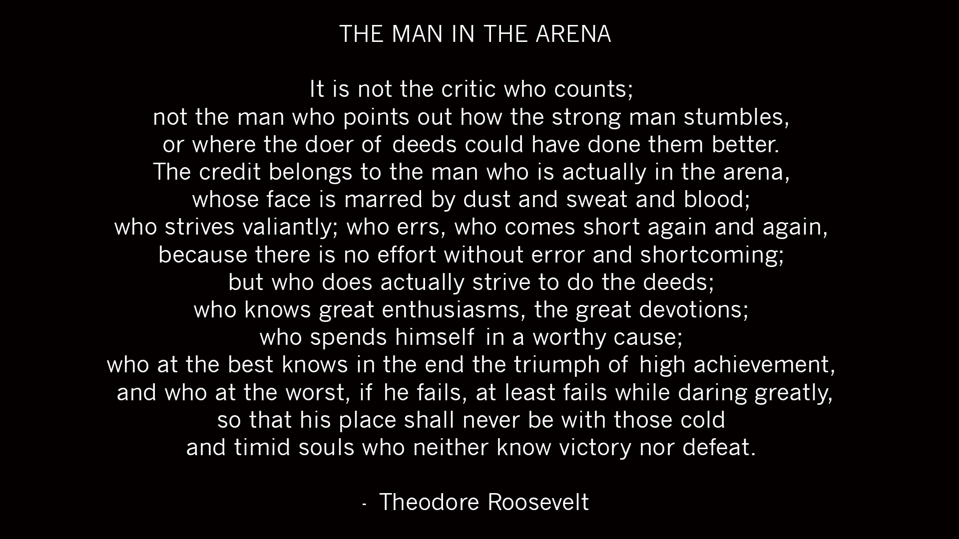 Teddy Roosevelt Quote Phone Wallpaper Download Man In The Arena Wallpaper Gallery