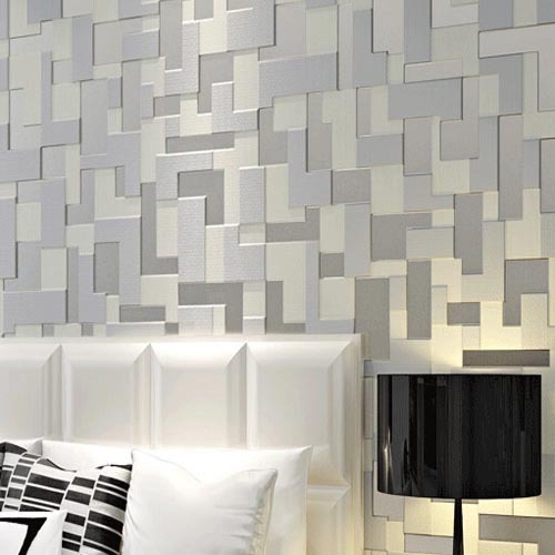 Peel And Stick 3d Wall Panels White Brick Wallpaper Download Modern Grey Wallpaper Gallery