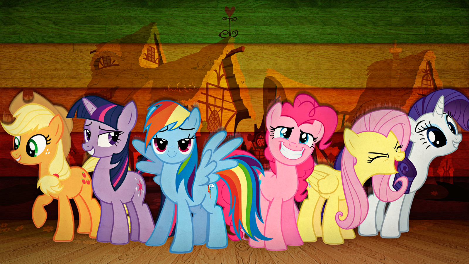 Fall Out Boy Wallpaper Android Download My Little Pony Mane 6 Wallpaper Gallery