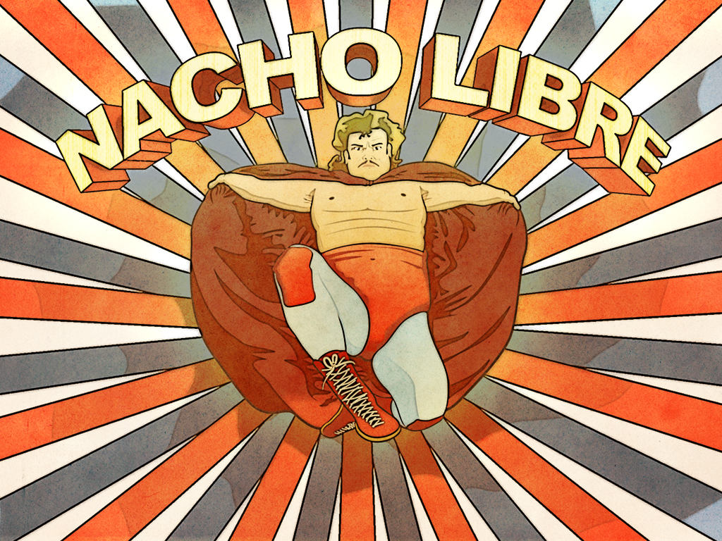Black 3d Ipad Wallpaper Download Nacho Libre Wallpaper Gallery