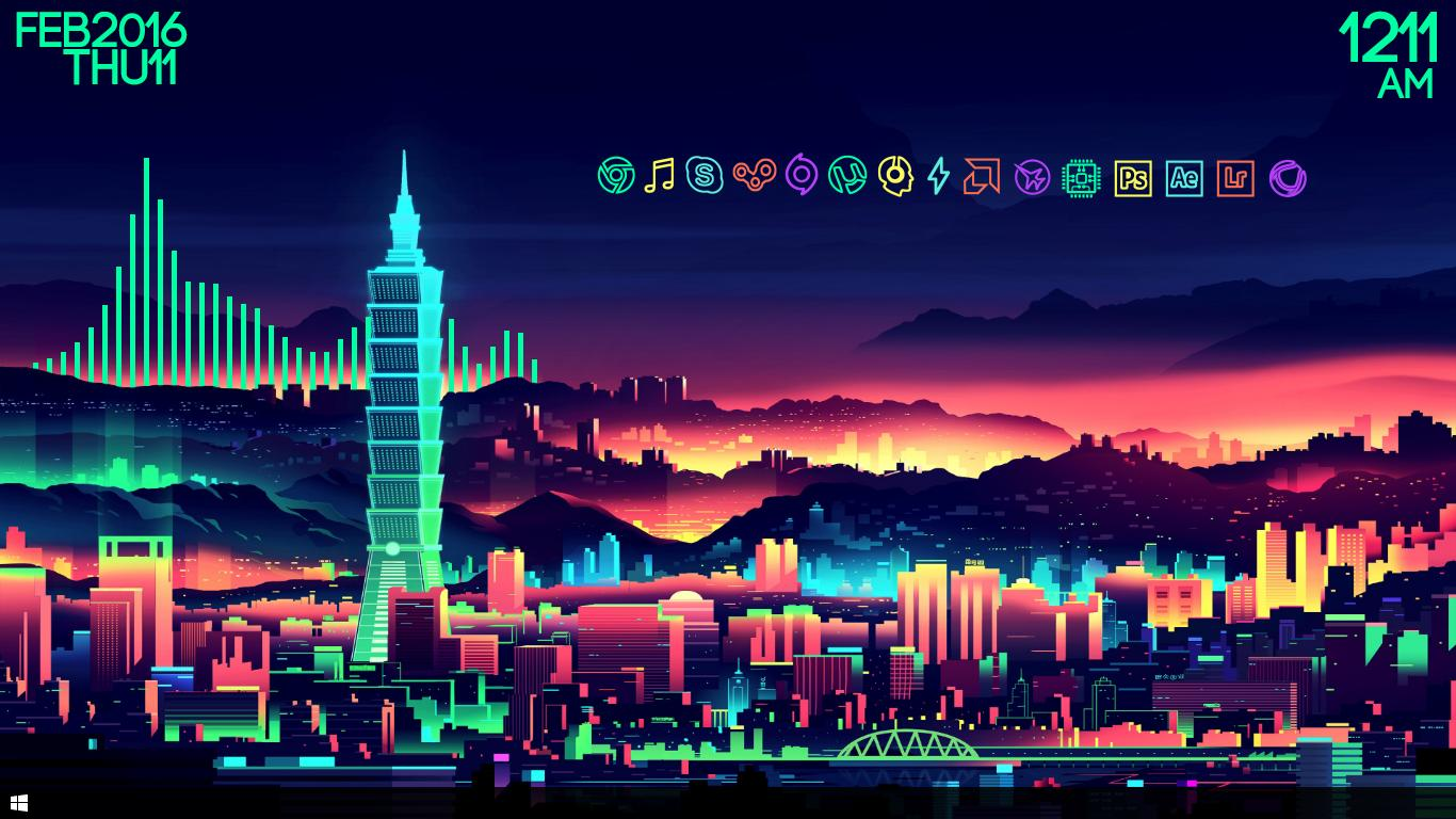 Neon Car Wallpaper With Girls Download Neon City Wallpaper Gallery