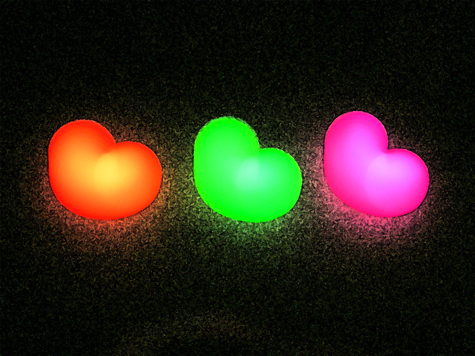 Android Live Wallpaper 3d Effect Download Neon Hearts Wallpaper Gallery