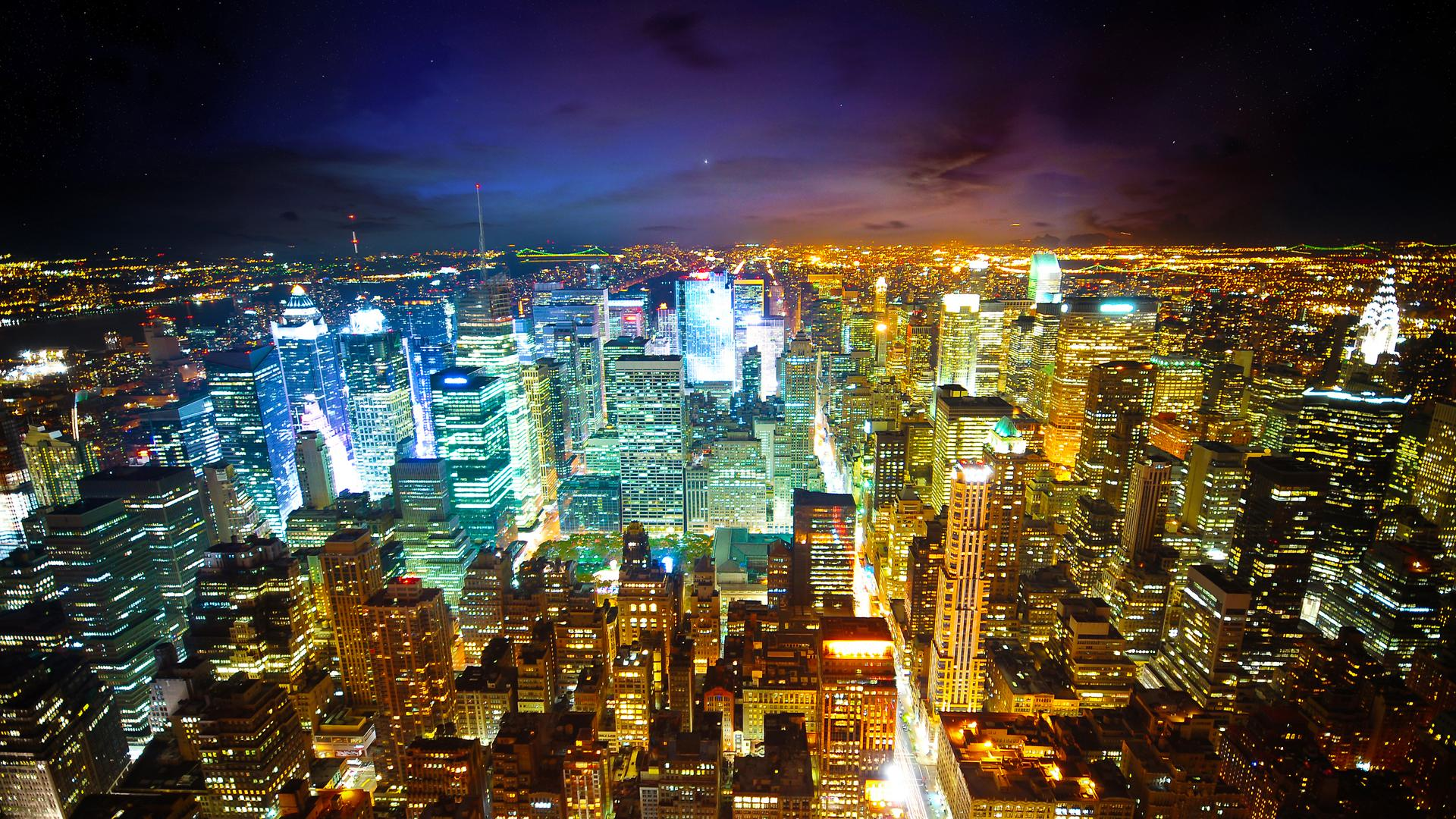 Android 3d Wallpaper 9apps Download New York City Skyline At Night Wallpaper Gallery